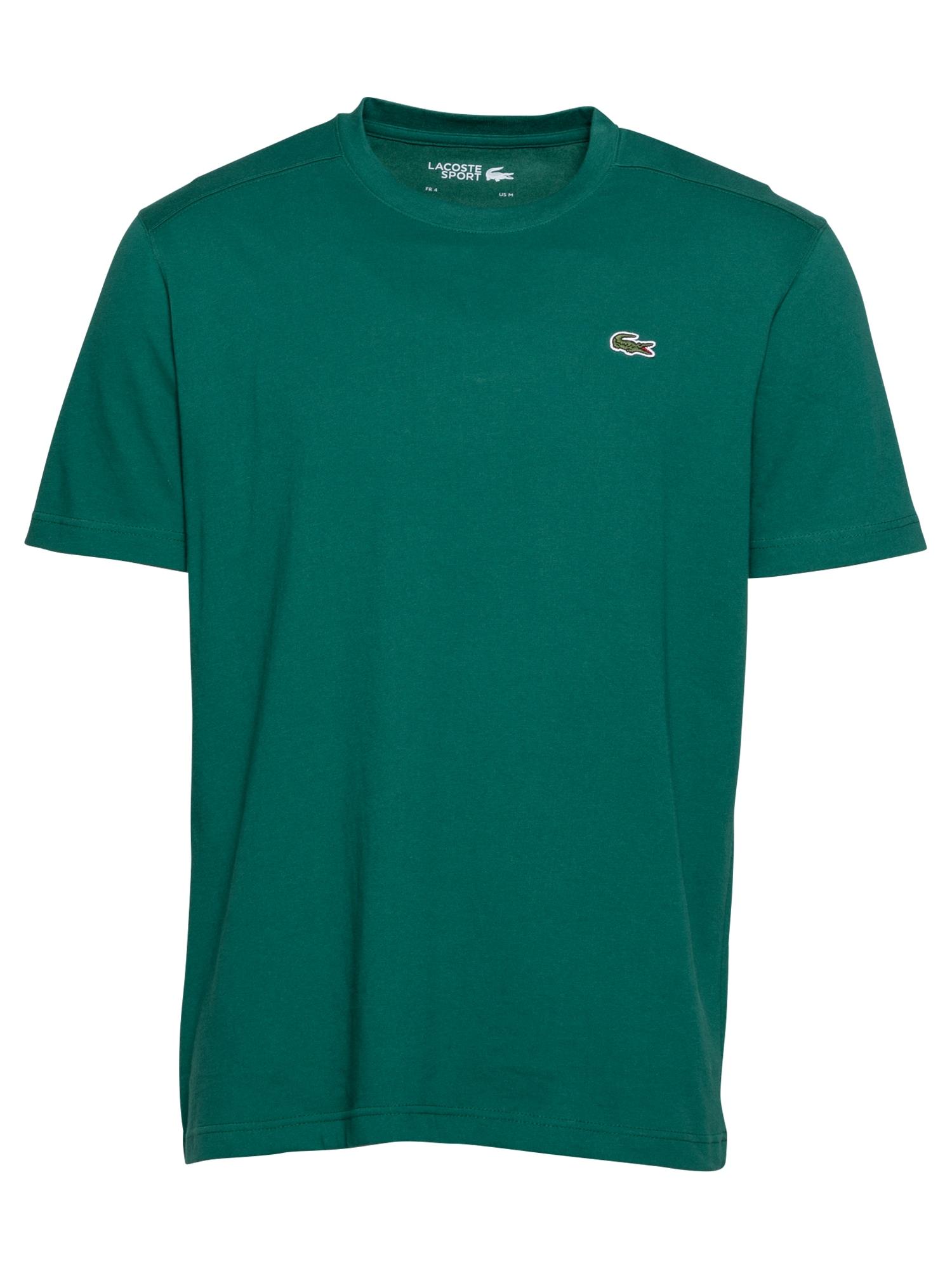 Lacoste Sport Sportiniai marškinėliai balta / raudona / smaragdinė spalva
