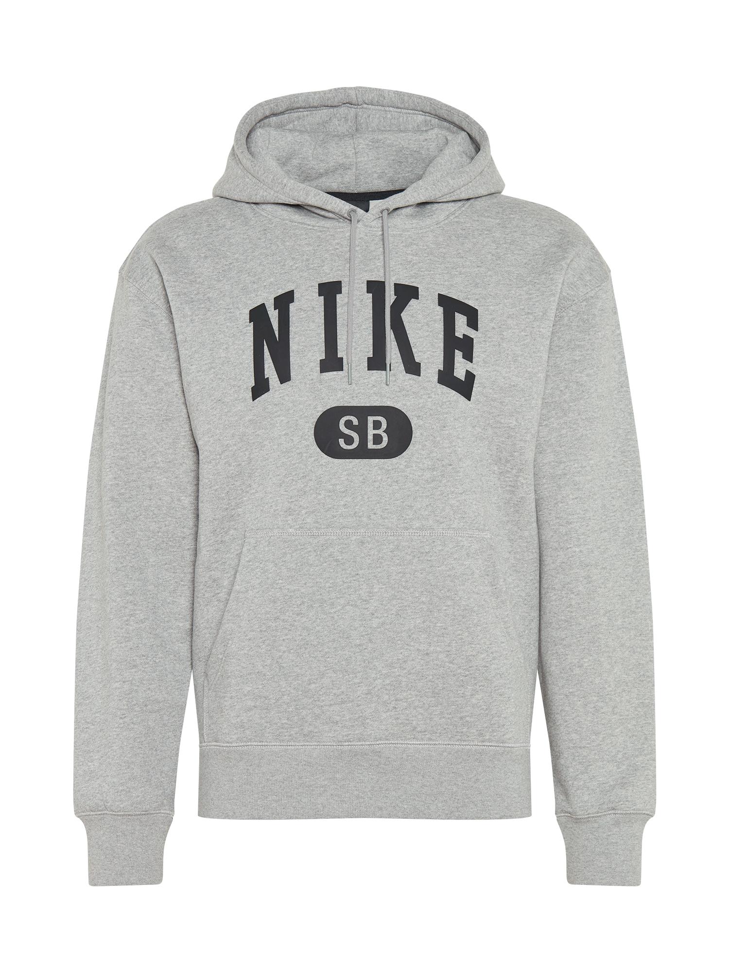 Nike SB Megztinis be užsegimo margai pilka / juoda