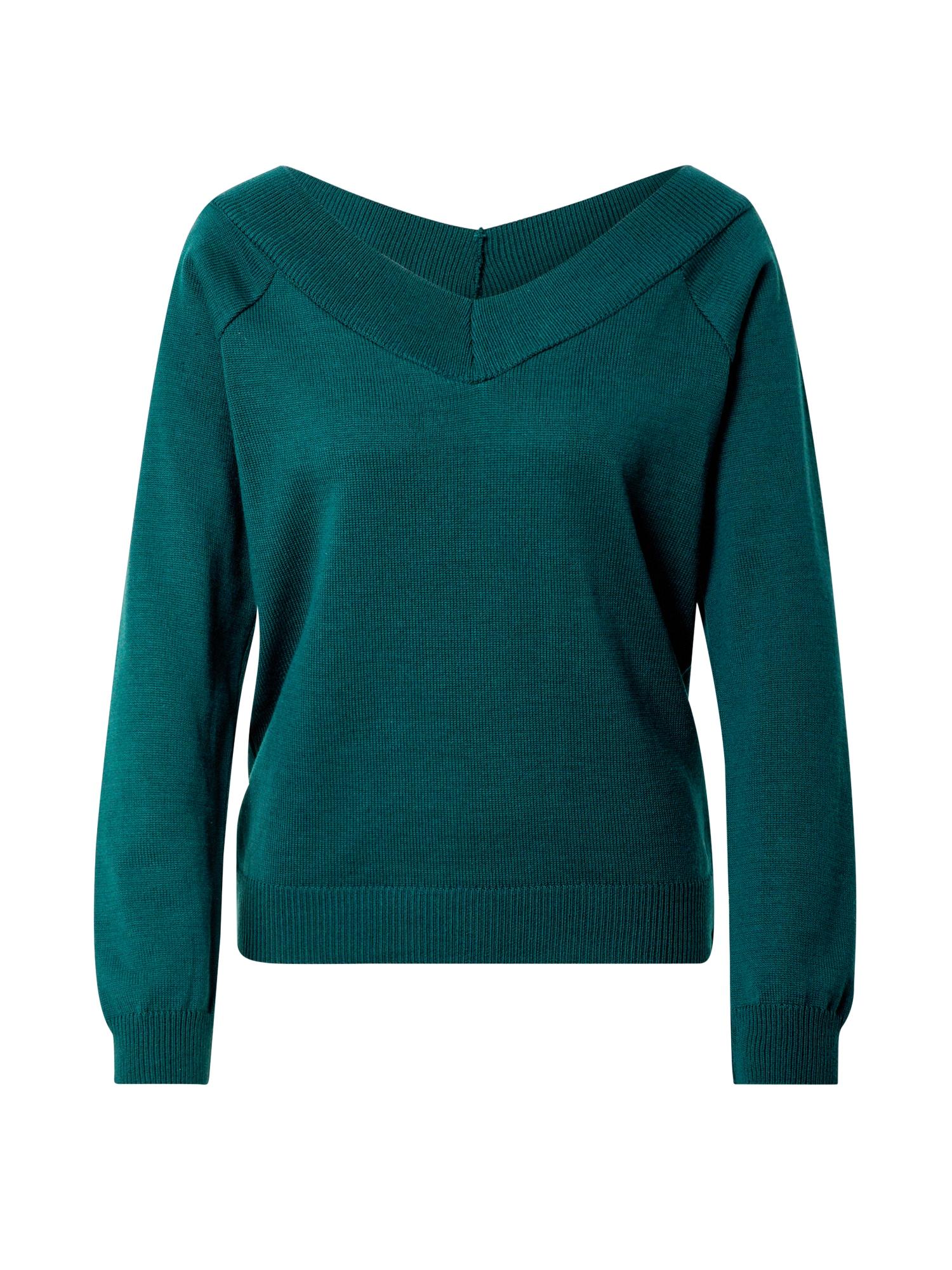 ABOUT YOU Megztinis 'Alexis' žalia / benzino spalva
