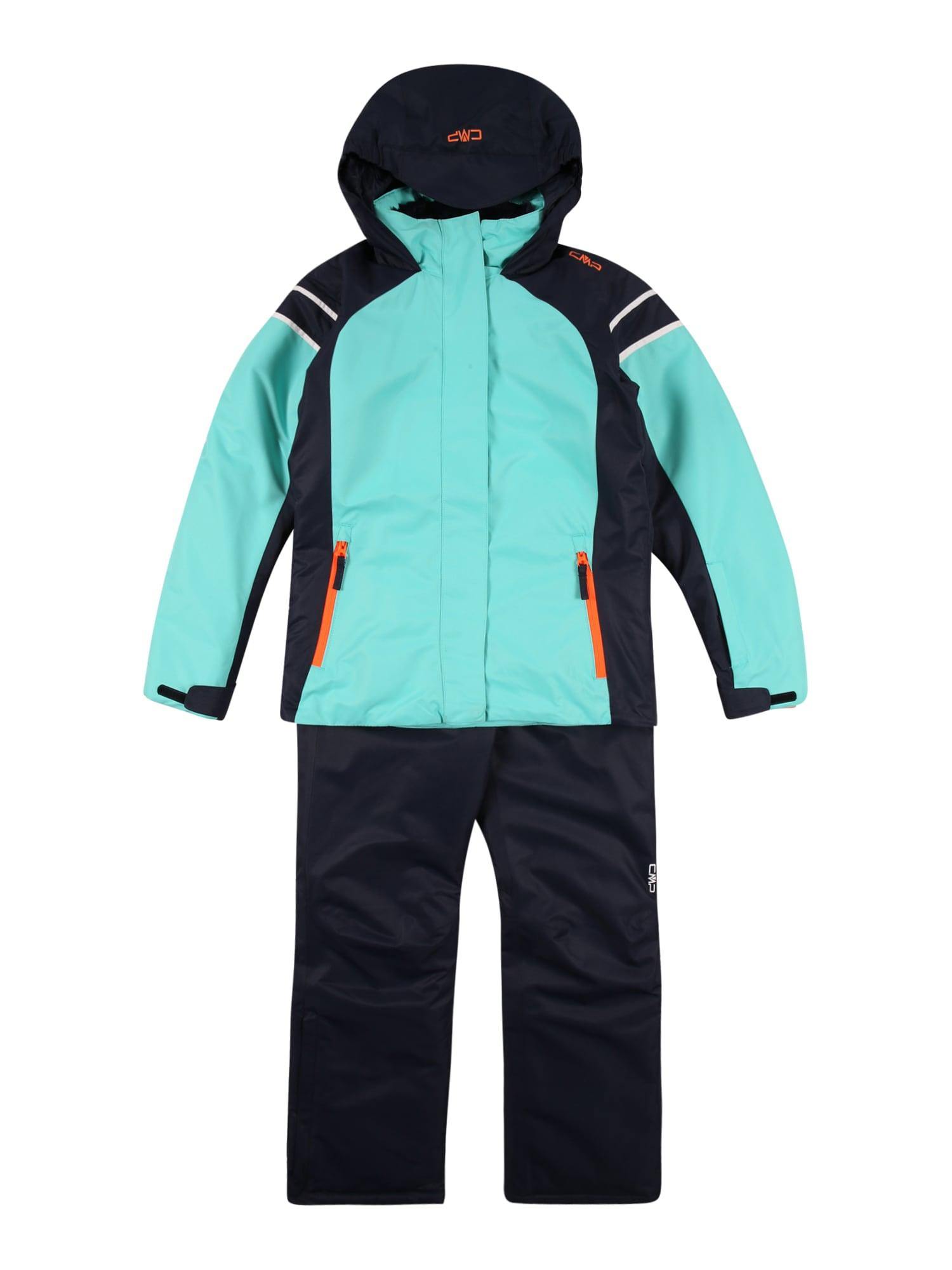 CMP Sportinis kostiumas vandens spalva / tamsiai mėlyna jūros spalva / oranžinė