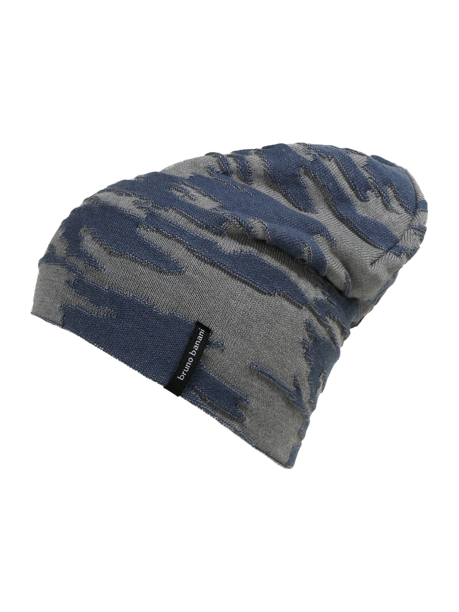 BRUNO BANANI Megzta kepurė bazalto pilka / melsvai pilka
