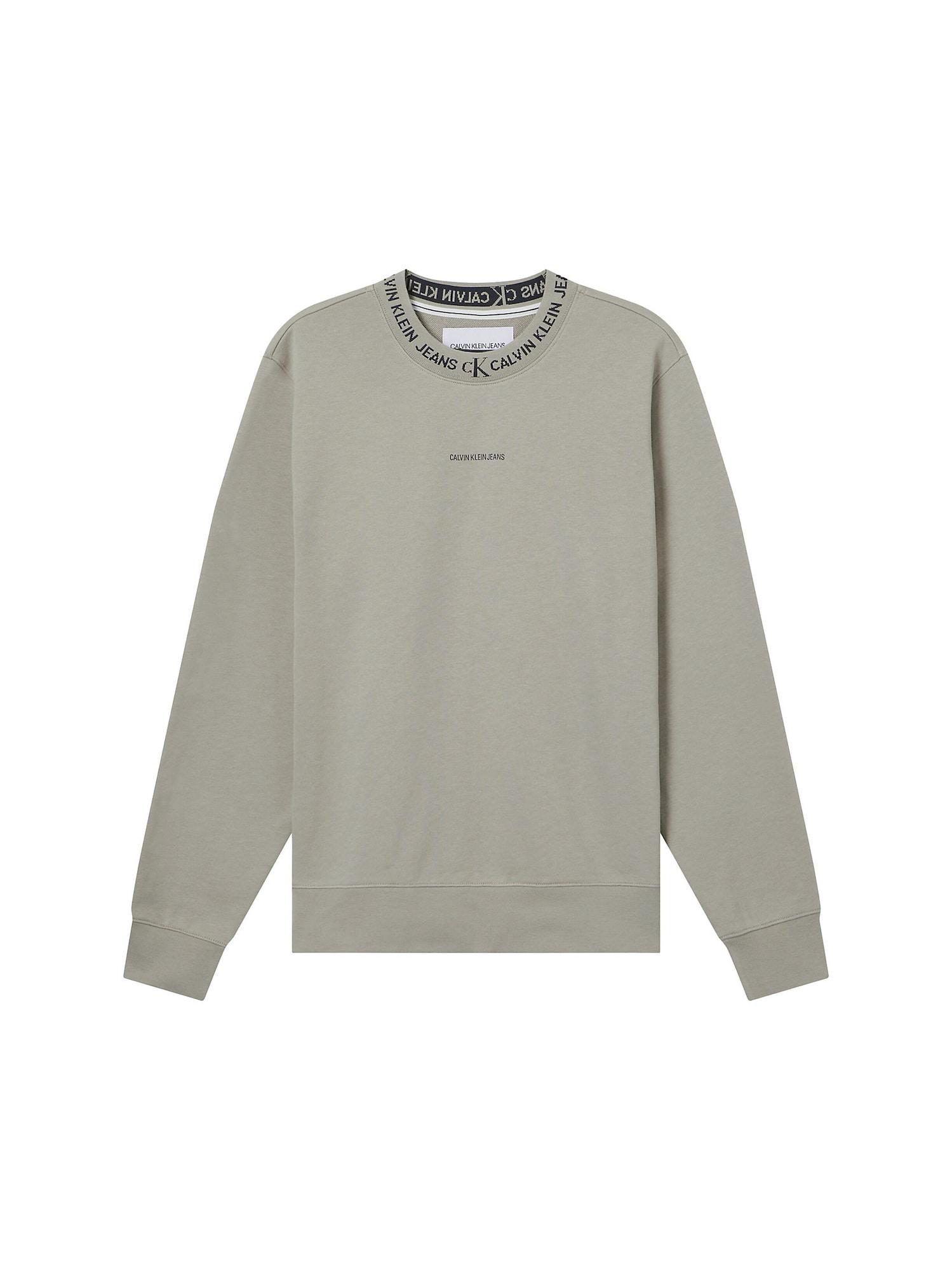 Calvin Klein Jeans Megztinis be užsegimo juoda / rusvai pilka