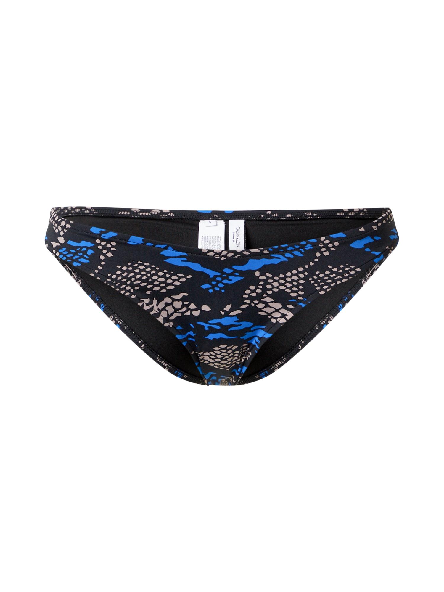 Calvin Klein Swimwear Bikinio kelnaitės juoda / rausvai pilka / mėlyna