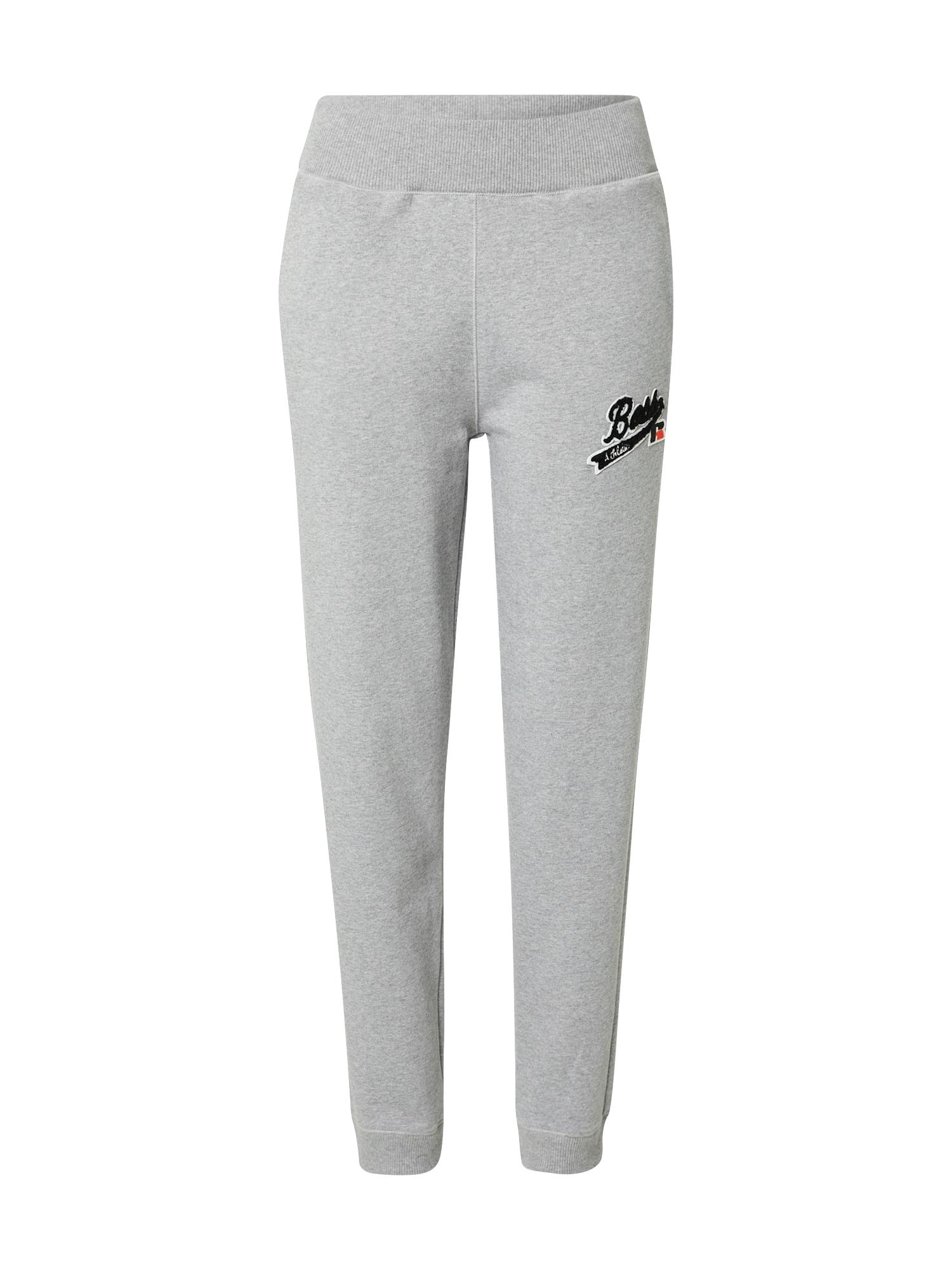 BOSS Kalhoty 'C_Ejoy_RA'  stříbrně šedá
