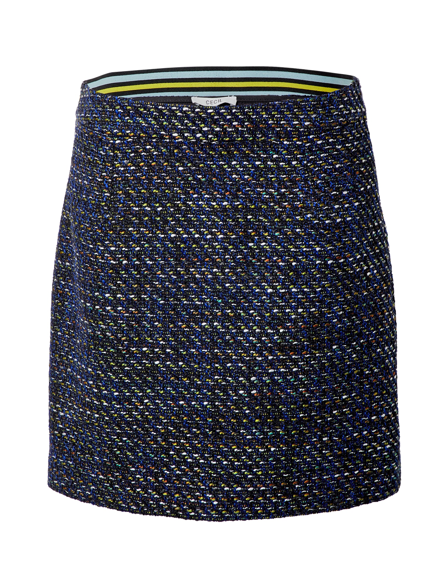 CECIL Sijonas juoda / mėlyna / geltona / balta