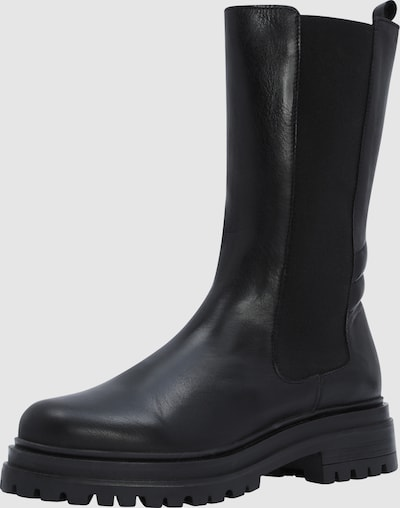 - Runde Schuhspitze - Elastische Seiteneinsätze - Fersenlasche - Obermaterial aus Leder - Halbe Wadenlänge - Chunky-Sohle
