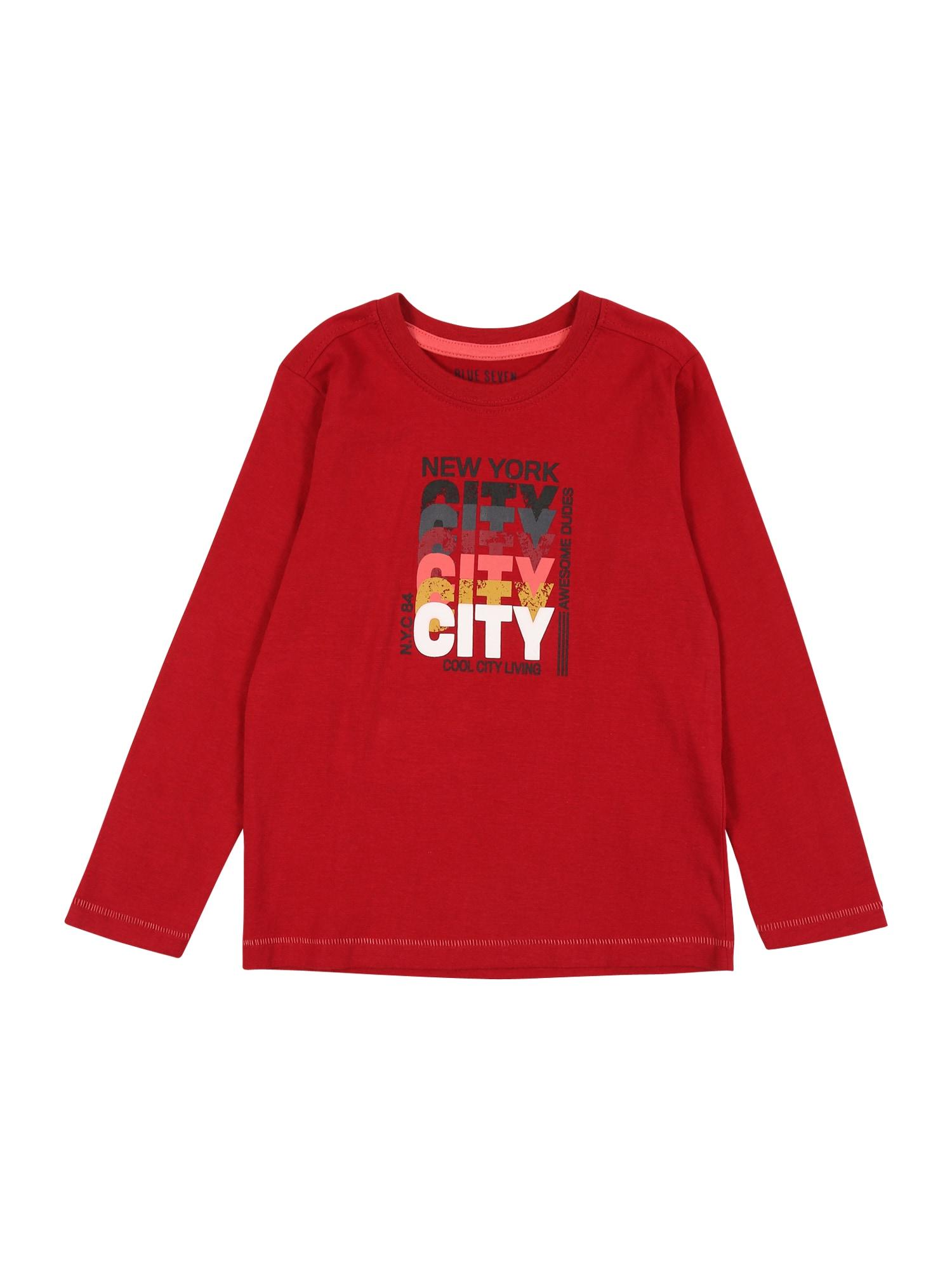 BLUE SEVEN Marškinėliai tamsiai raudona / mišrios spalvos