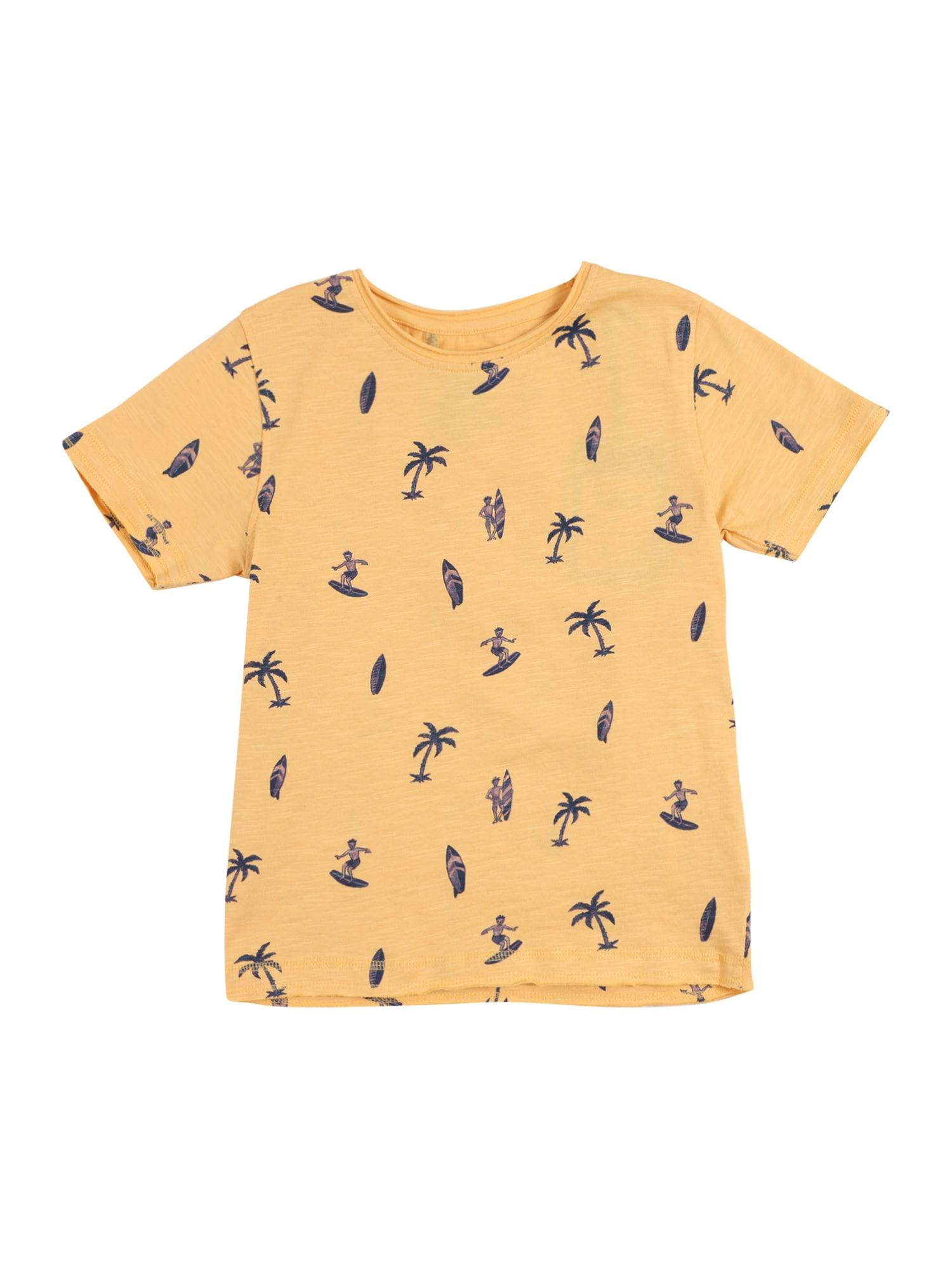 BASEFIELD Marškinėliai oranžinė / tamsiai mėlyna