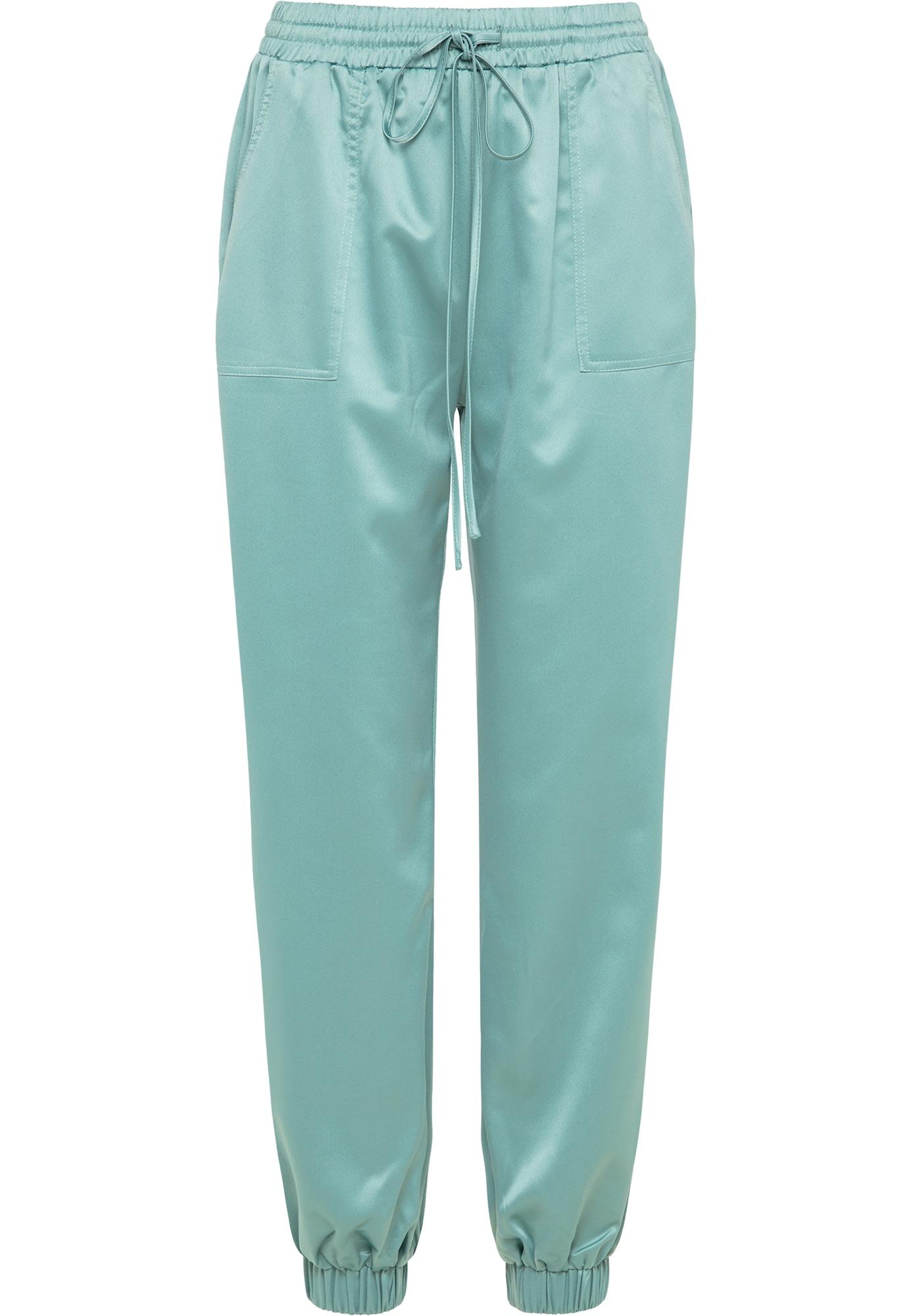 RISA Kelnės pastelinė žalia