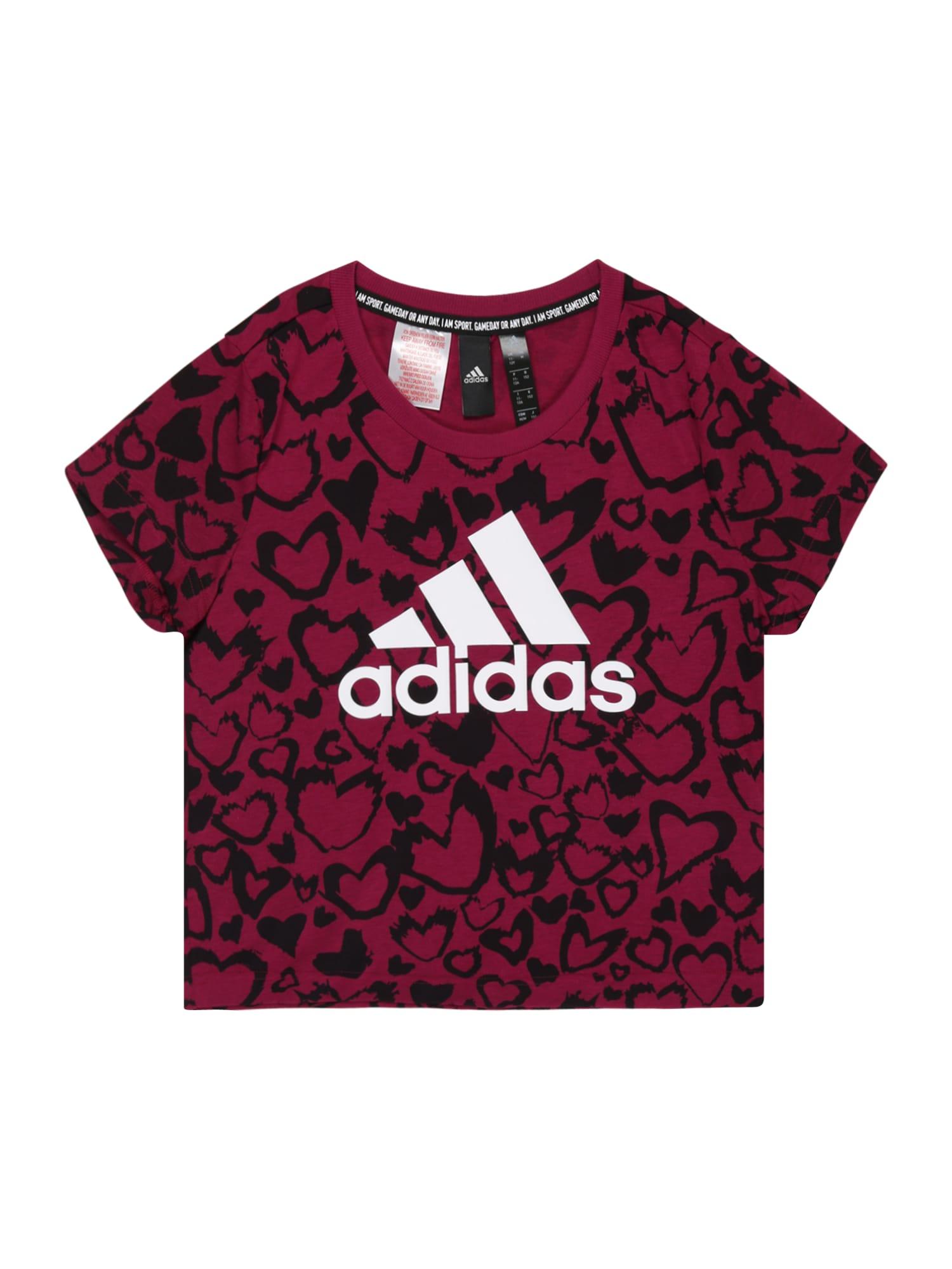 ADIDAS PERFORMANCE Funkční tričko 'GRA'  bordó / černá / bílá
