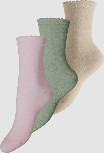 Pieces Sebby Lange Glitzer-Socken 3er-Pack