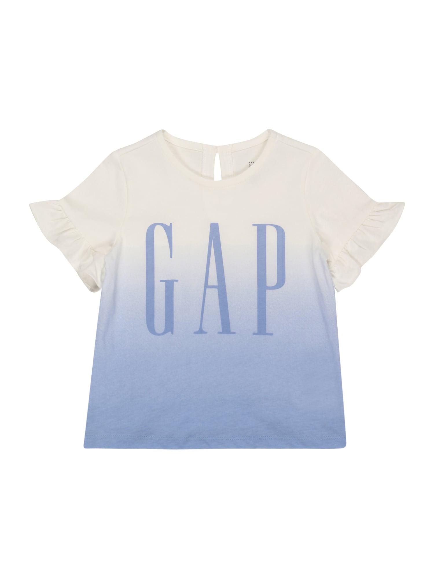 GAP Marškinėliai balta / mėlyna dūmų spalva