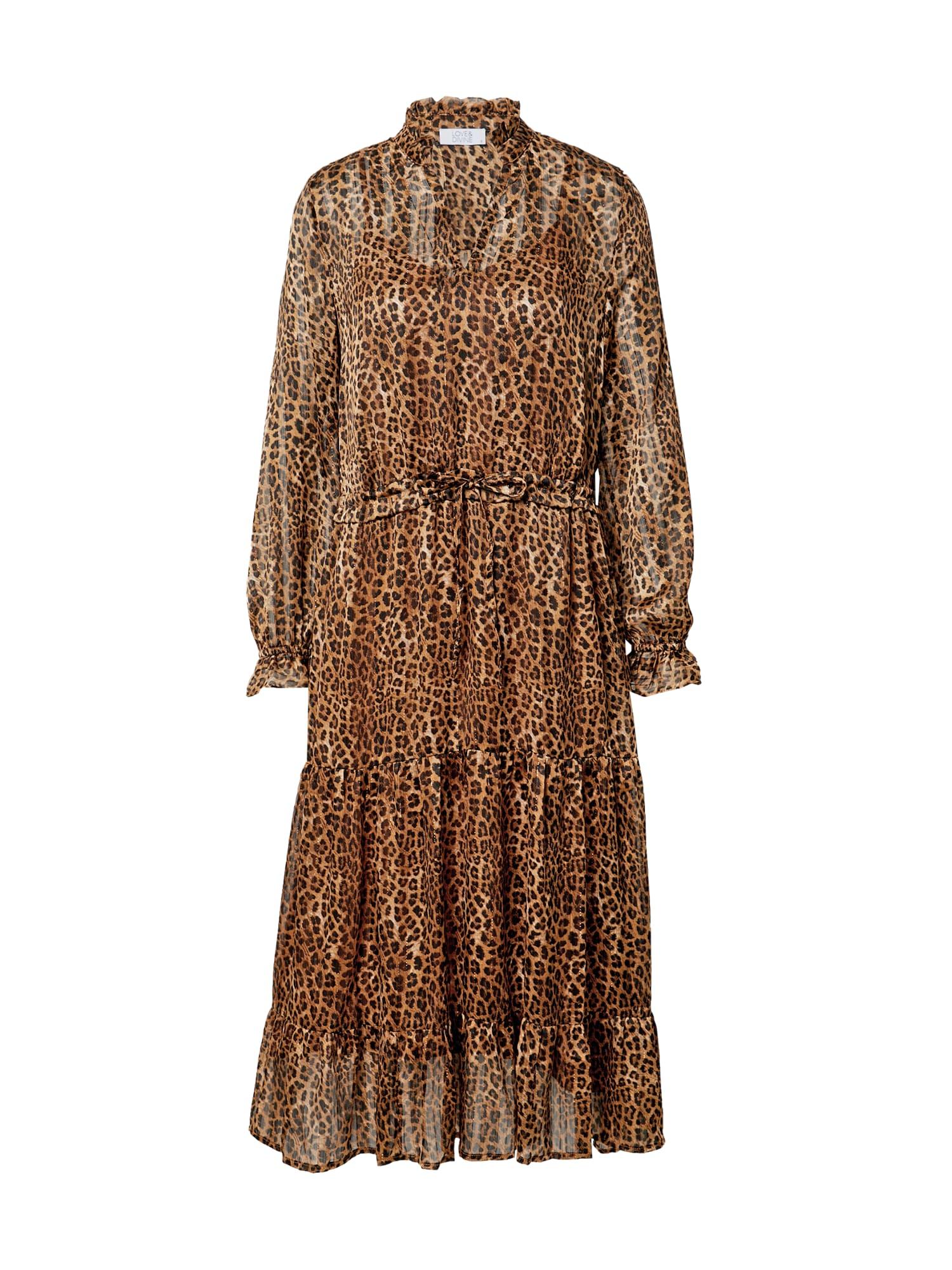 Love & Divine Suknelė smėlio spalva / ruda
