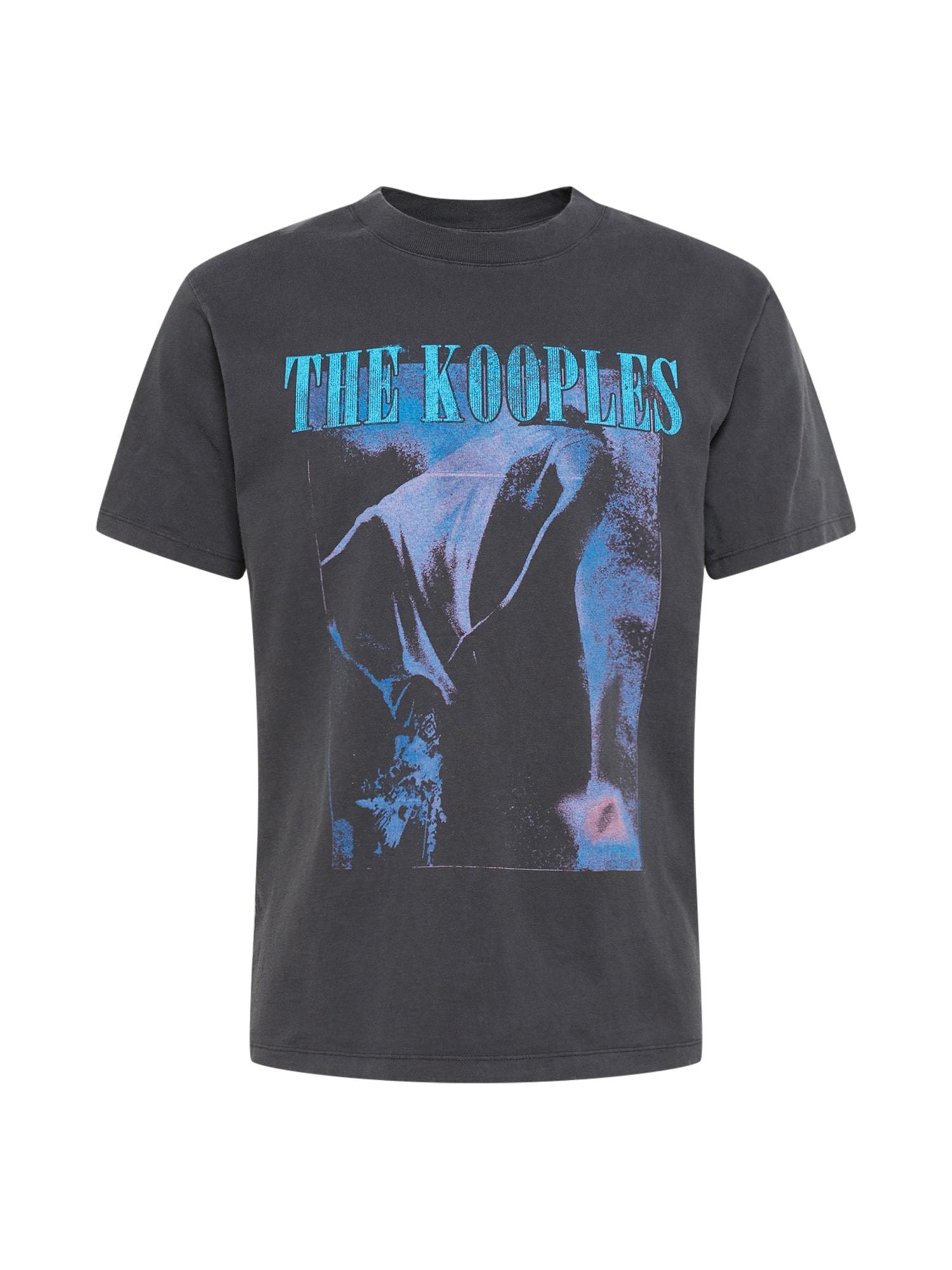 "The Kooples Marškinėliai juoda / turkio spalva / sodri mėlyna (""karališka"")"