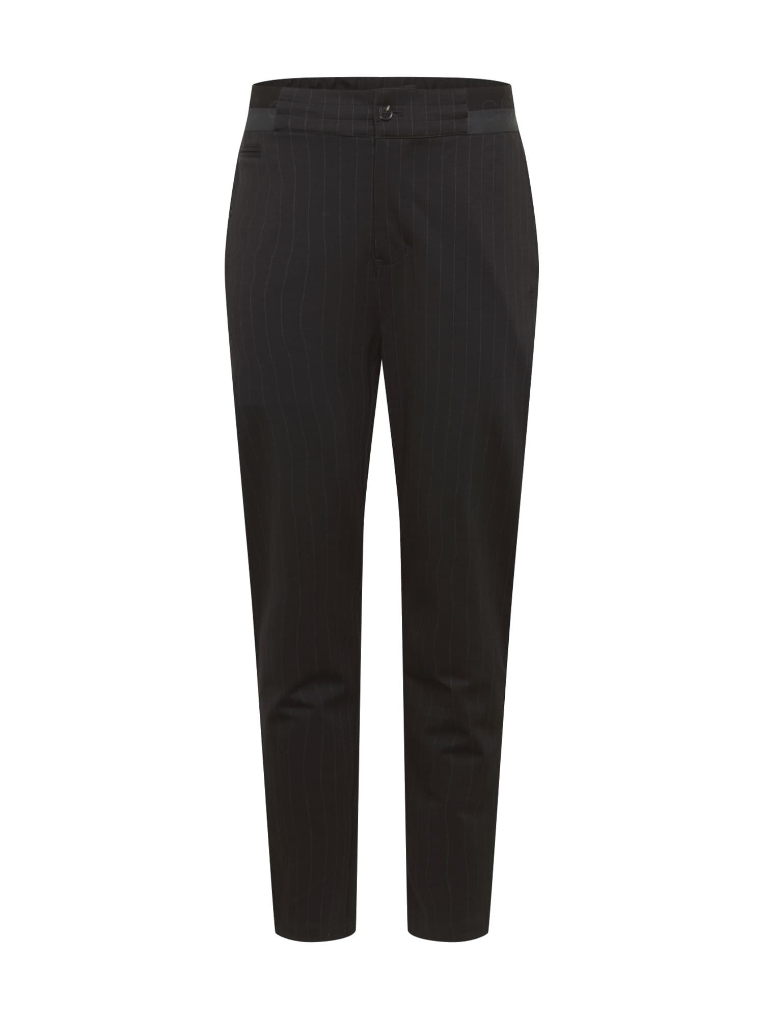 Calvin Klein Jeans Nohavice 'GALFOS'  čierna / biela