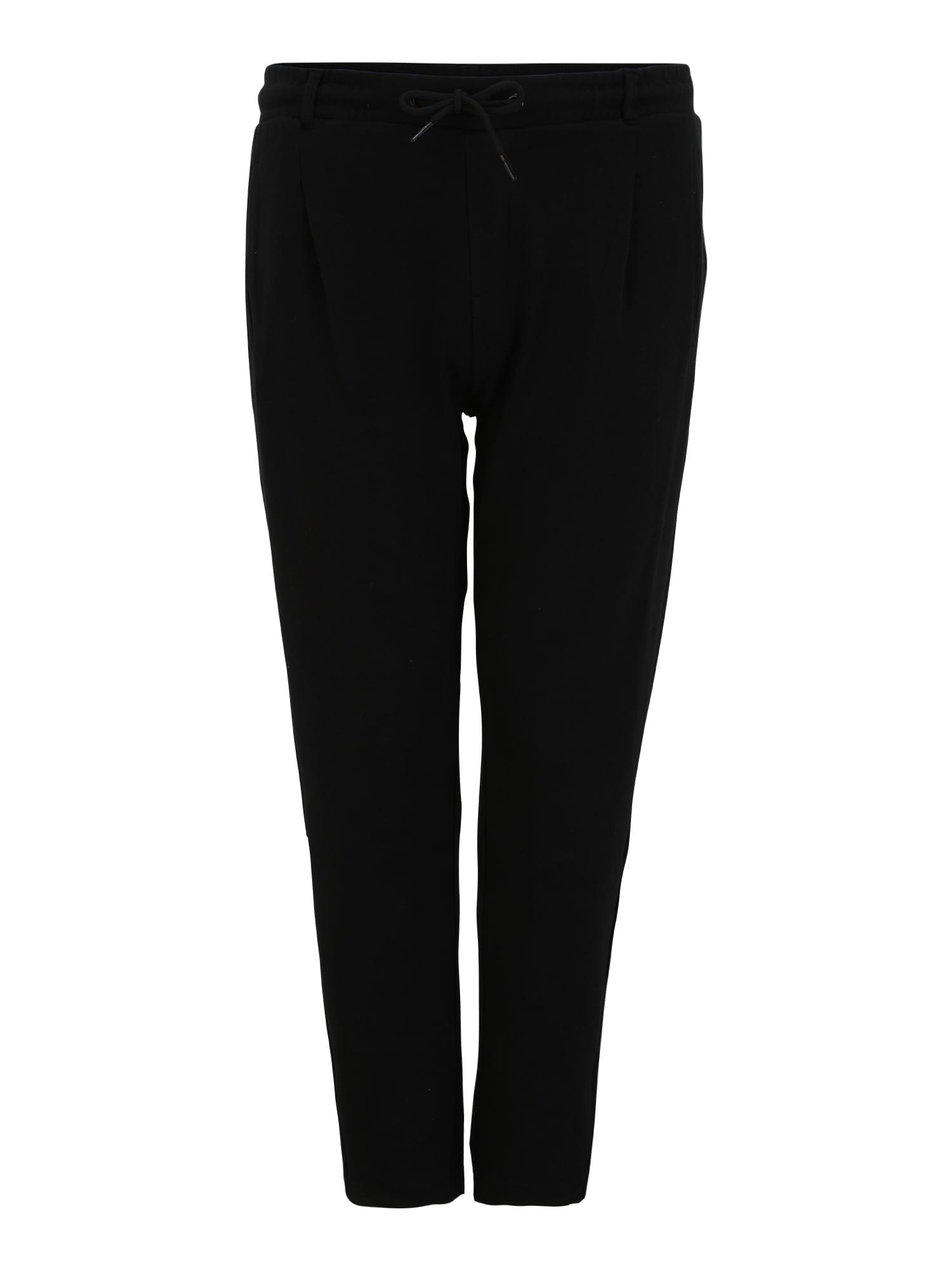 Urban Classics Big & Tall Klostuotos kelnės juoda