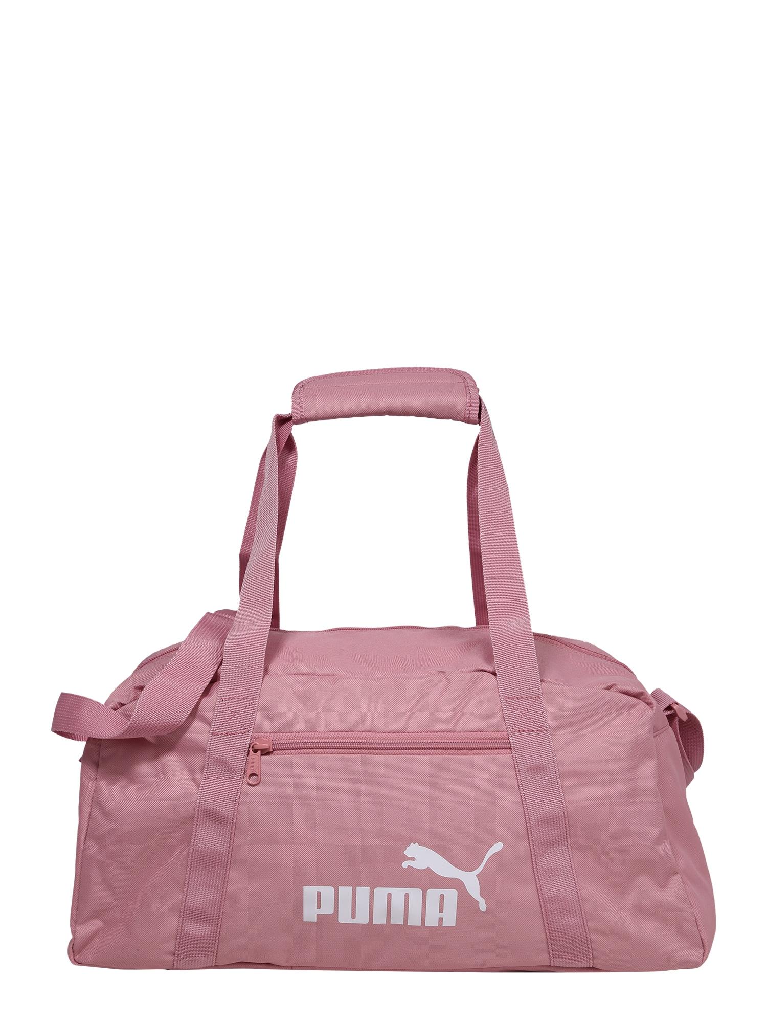 PUMA Sportovní taška 'Phase'  růžová / bílá