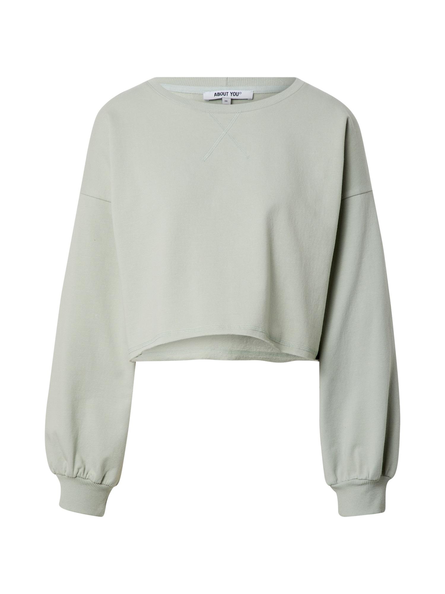ABOUT YOU Megztinis be užsegimo 'Liam' mėtų spalva
