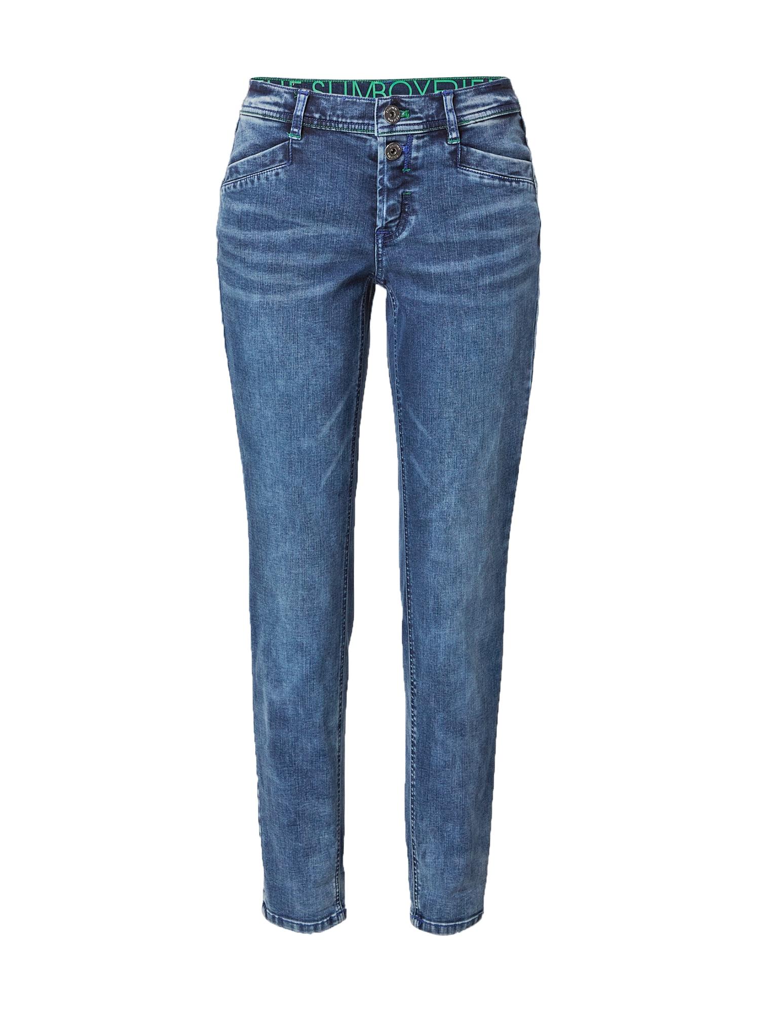 TAIFUN Džinsai tamsiai (džinso) mėlyna