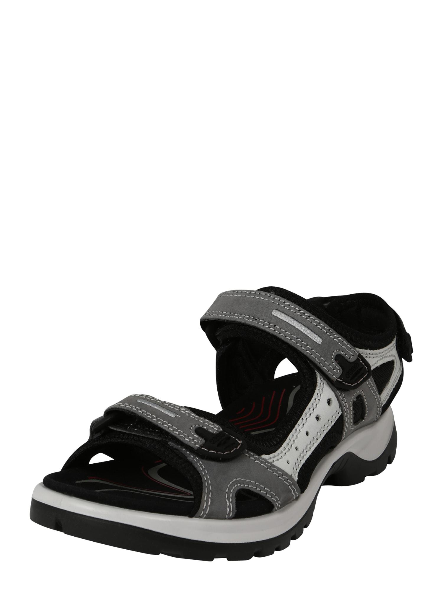 ECCO Sportinio tipo sandalai pilka / juoda