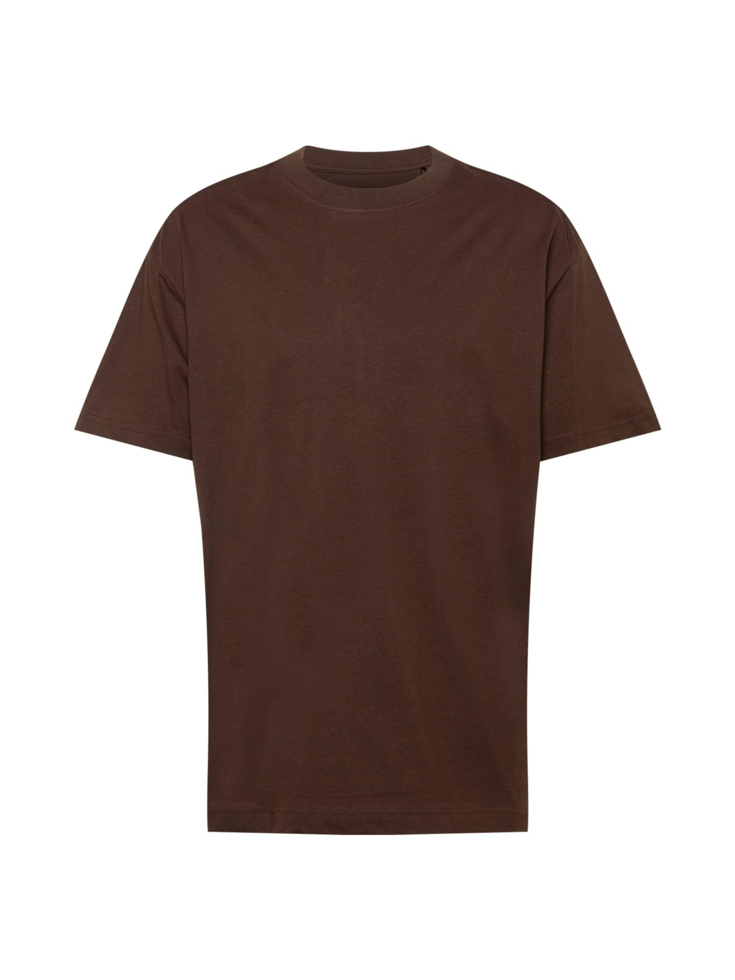 WEEKDAY Tričko  tmavě hnědá