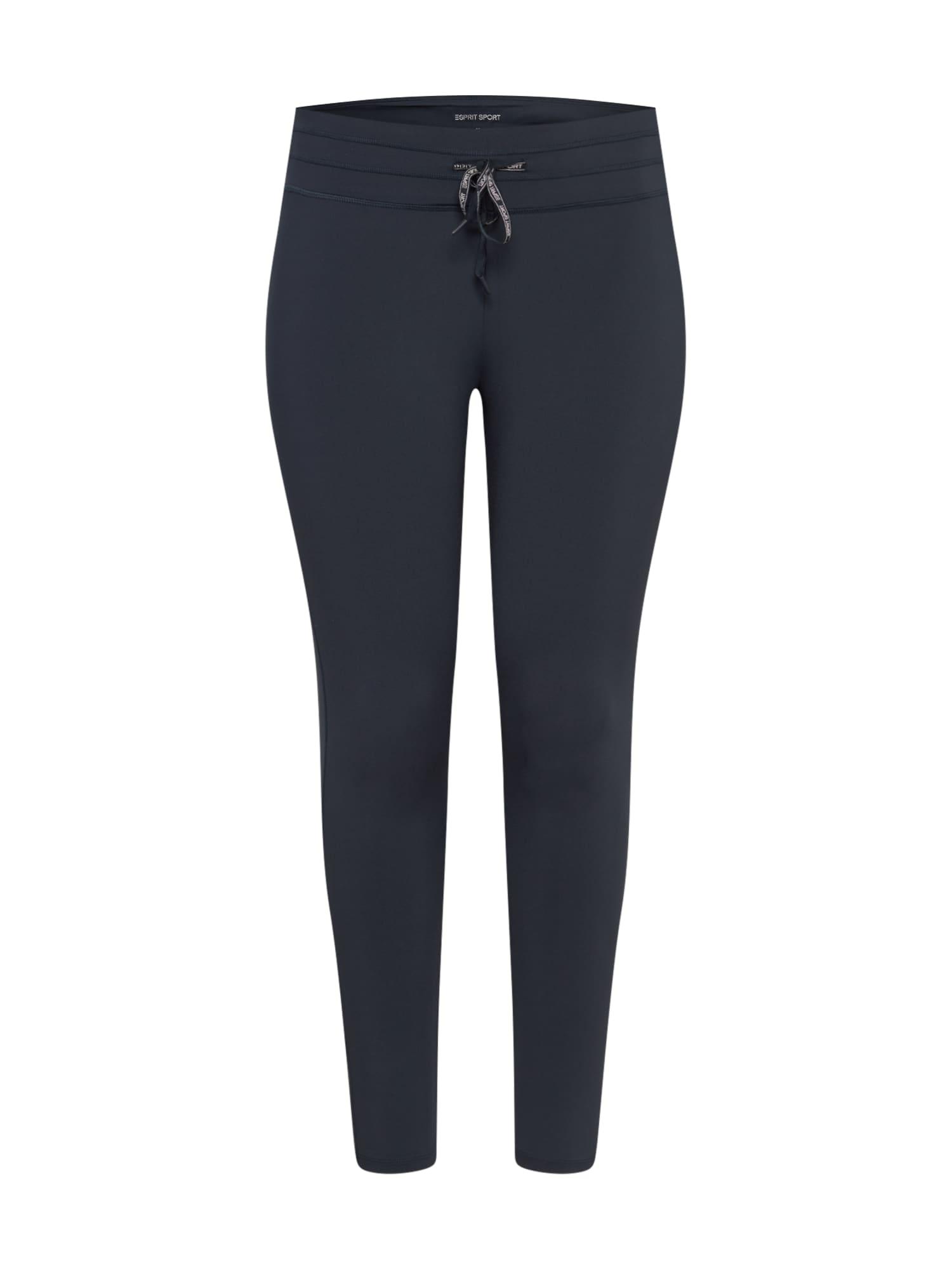 Esprit Sport Curvy Kelnės tamsiai mėlyna