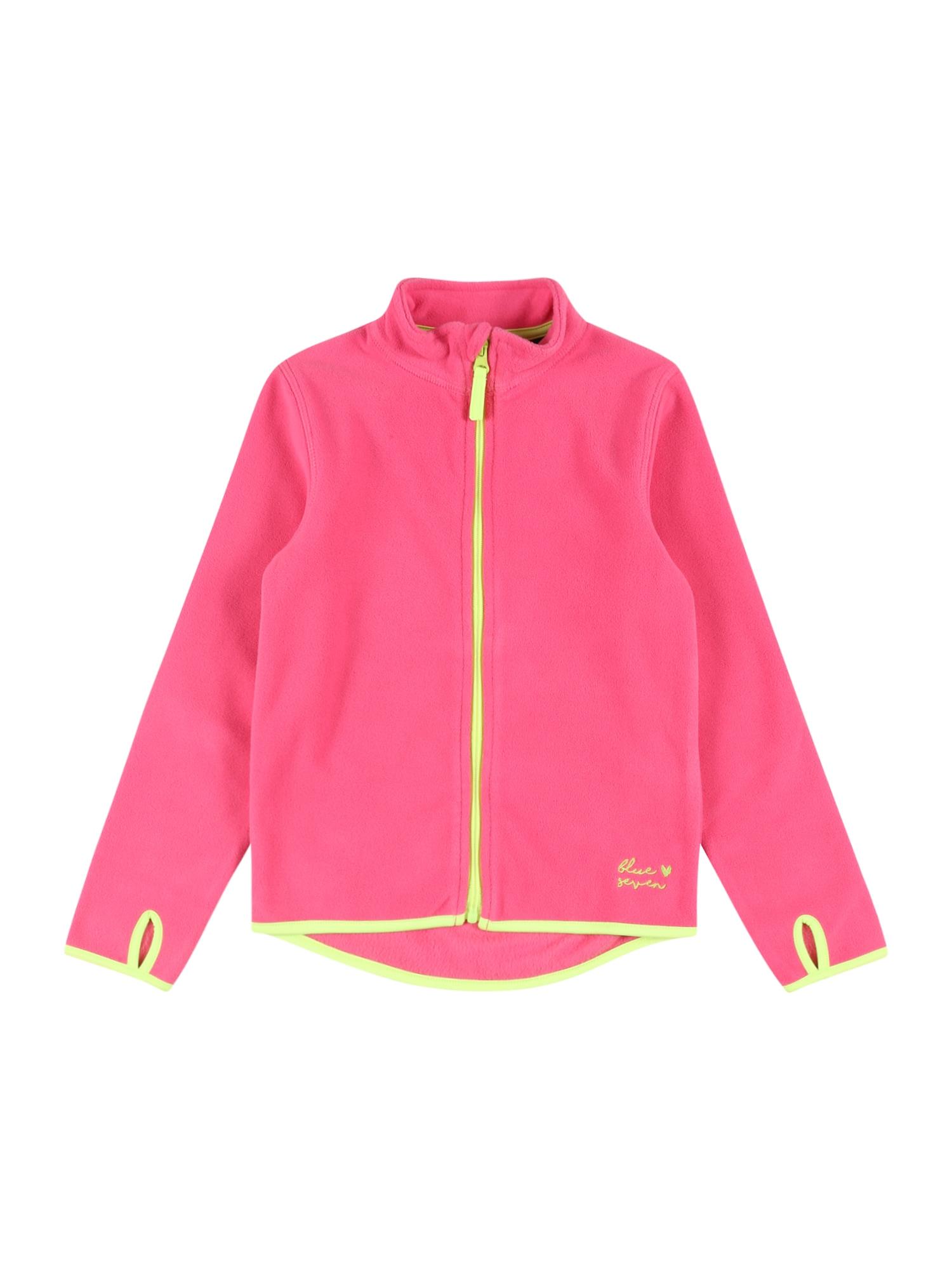 BLUE SEVEN Flisinis džemperis rožinė / kivių spalva