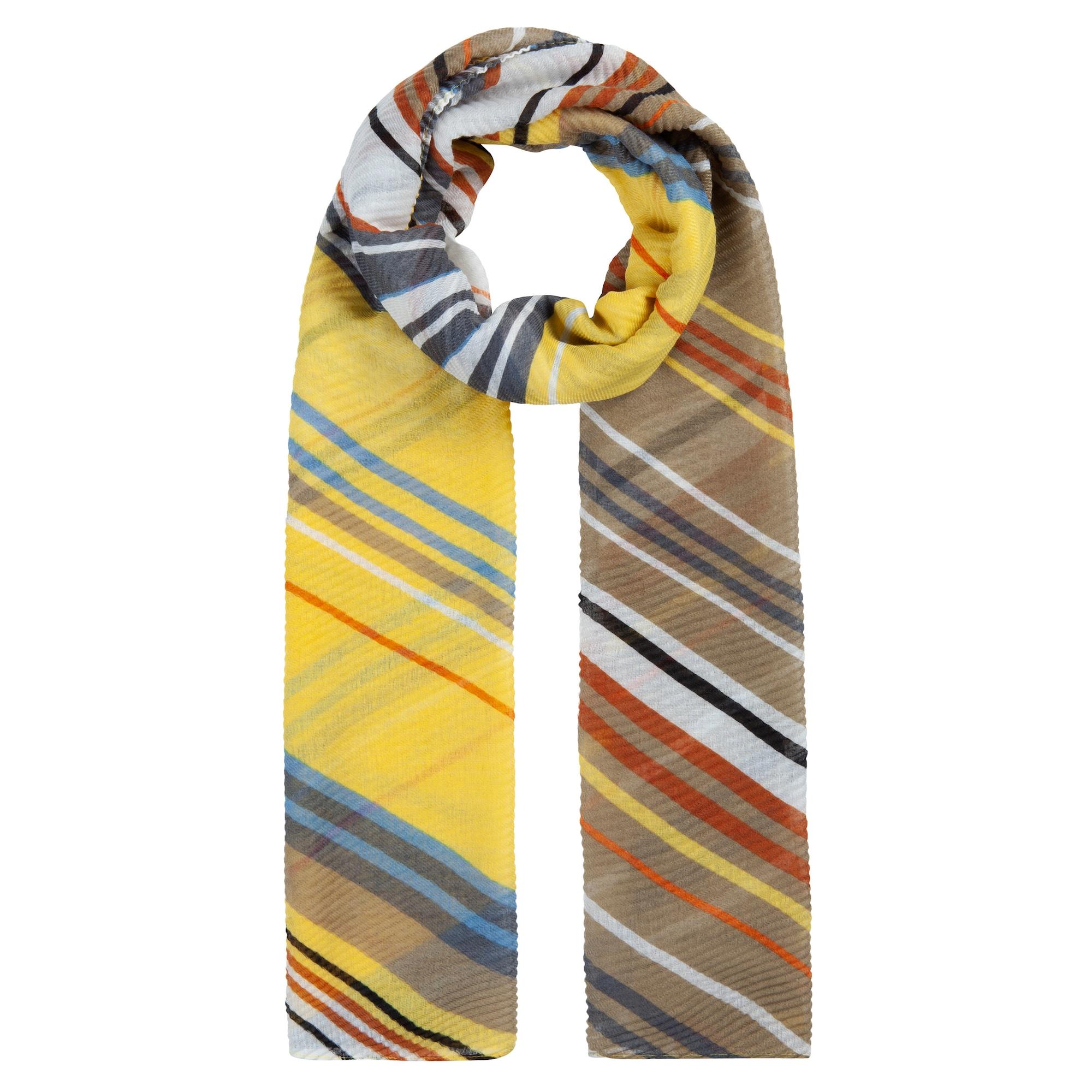 CODELLO Šalikas geltona / ruda / balta / mėlyna / pilka