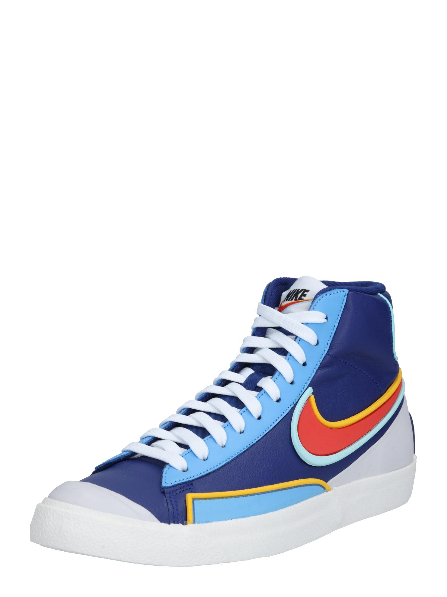Nike Sportswear Kotníkové tenisky '77 Infinite'  oranžově červená / tmavě modrá / světlemodrá