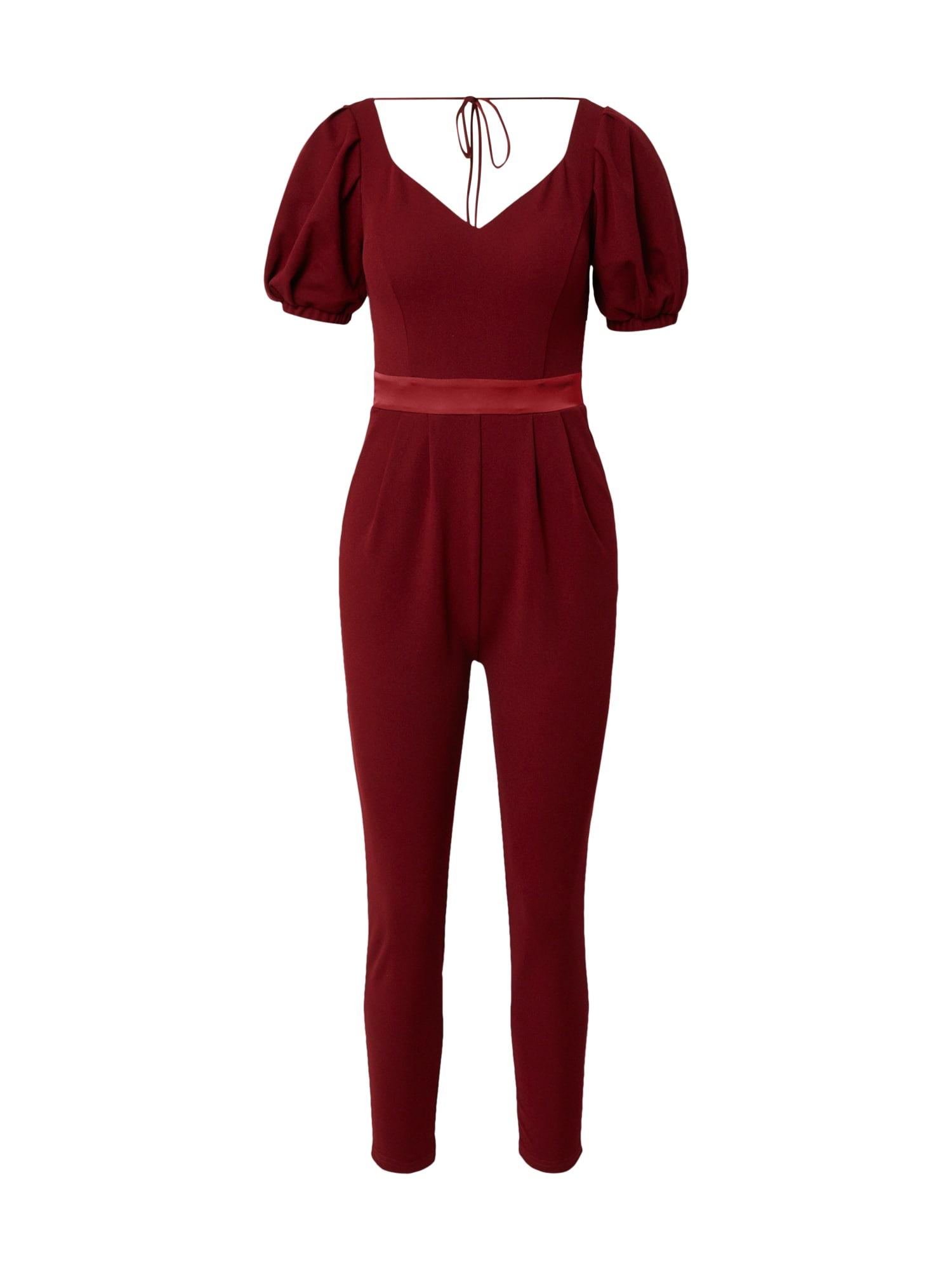 Skirt & Stiletto Vienos dalies kostiumas tamsiai raudona / melionų spalva