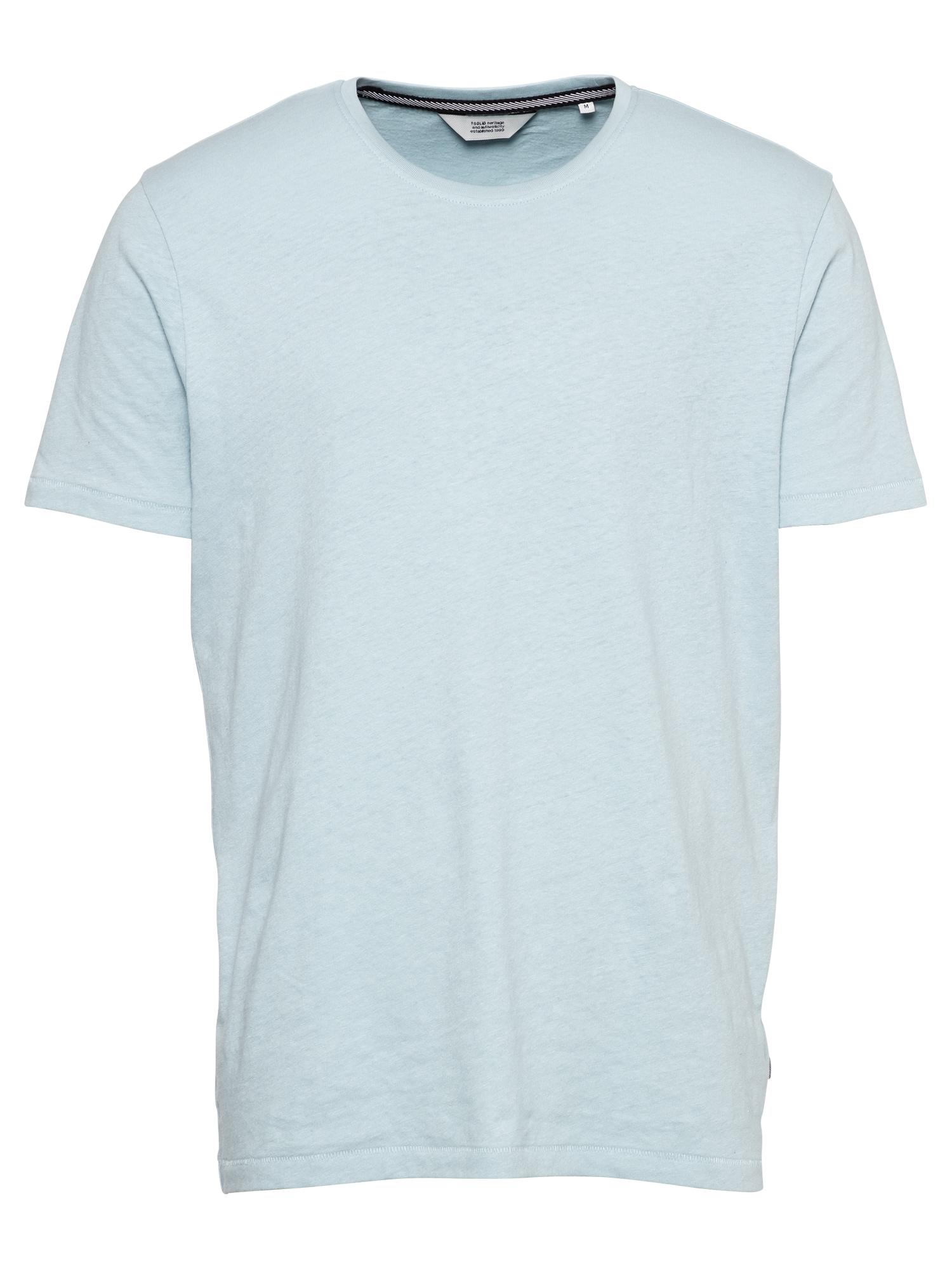 !Solid Marškinėliai azuro spalva