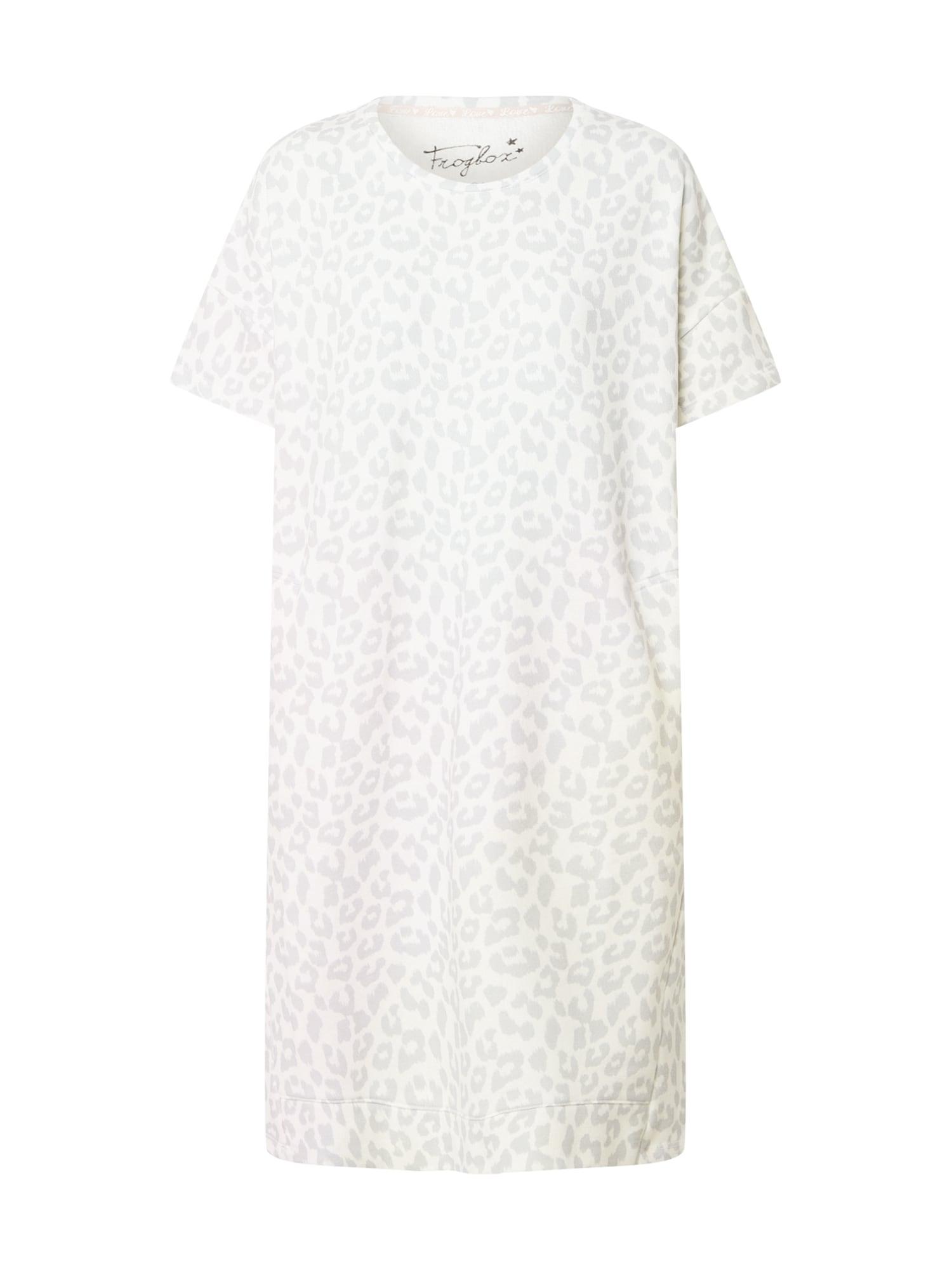 Frogbox Suknelė smėlio spalva / šviesiai pilka