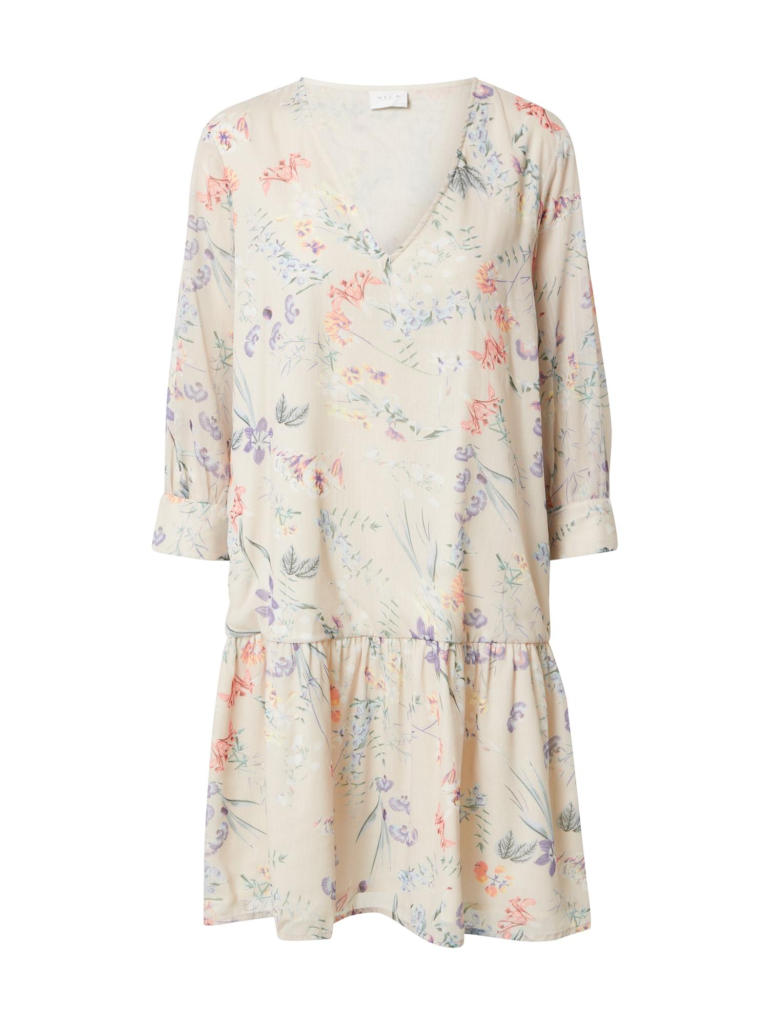 VILA Šaty 'FRIDA'  krémová / mix barev