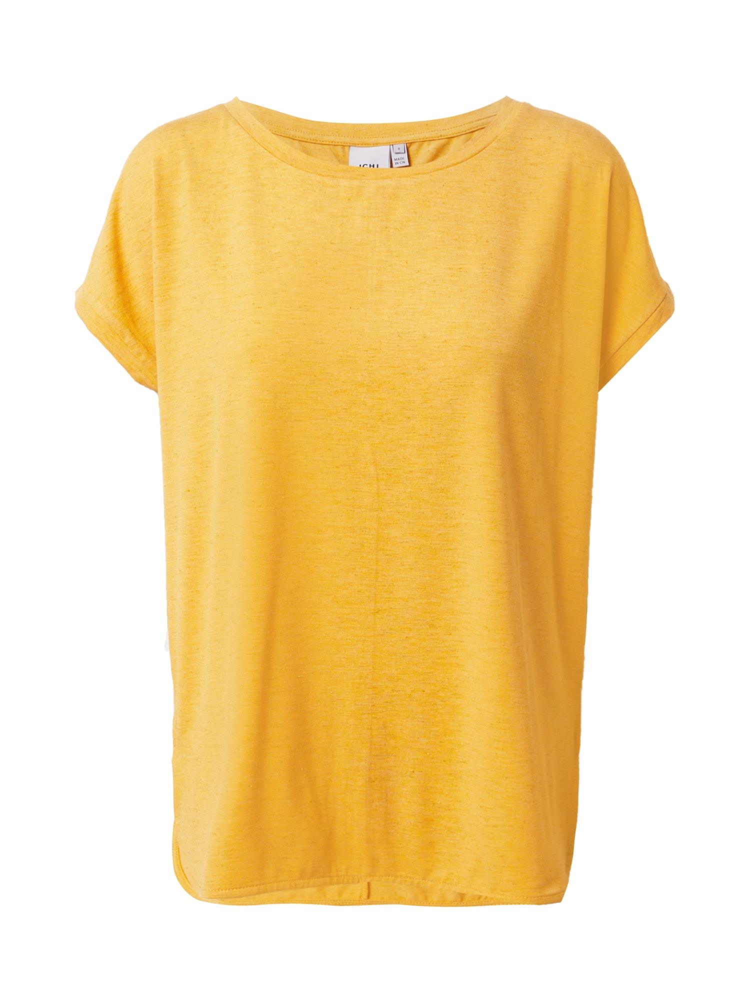 ICHI Marškinėliai garstyčių spalva