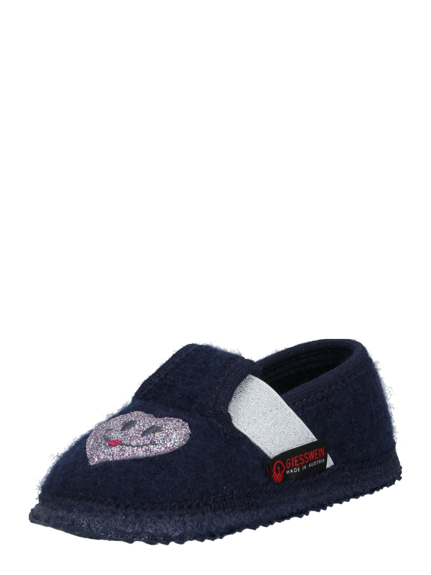 GIESSWEIN Pantofle 'Thalmässing'  fialová / tmavě modrá / bílá