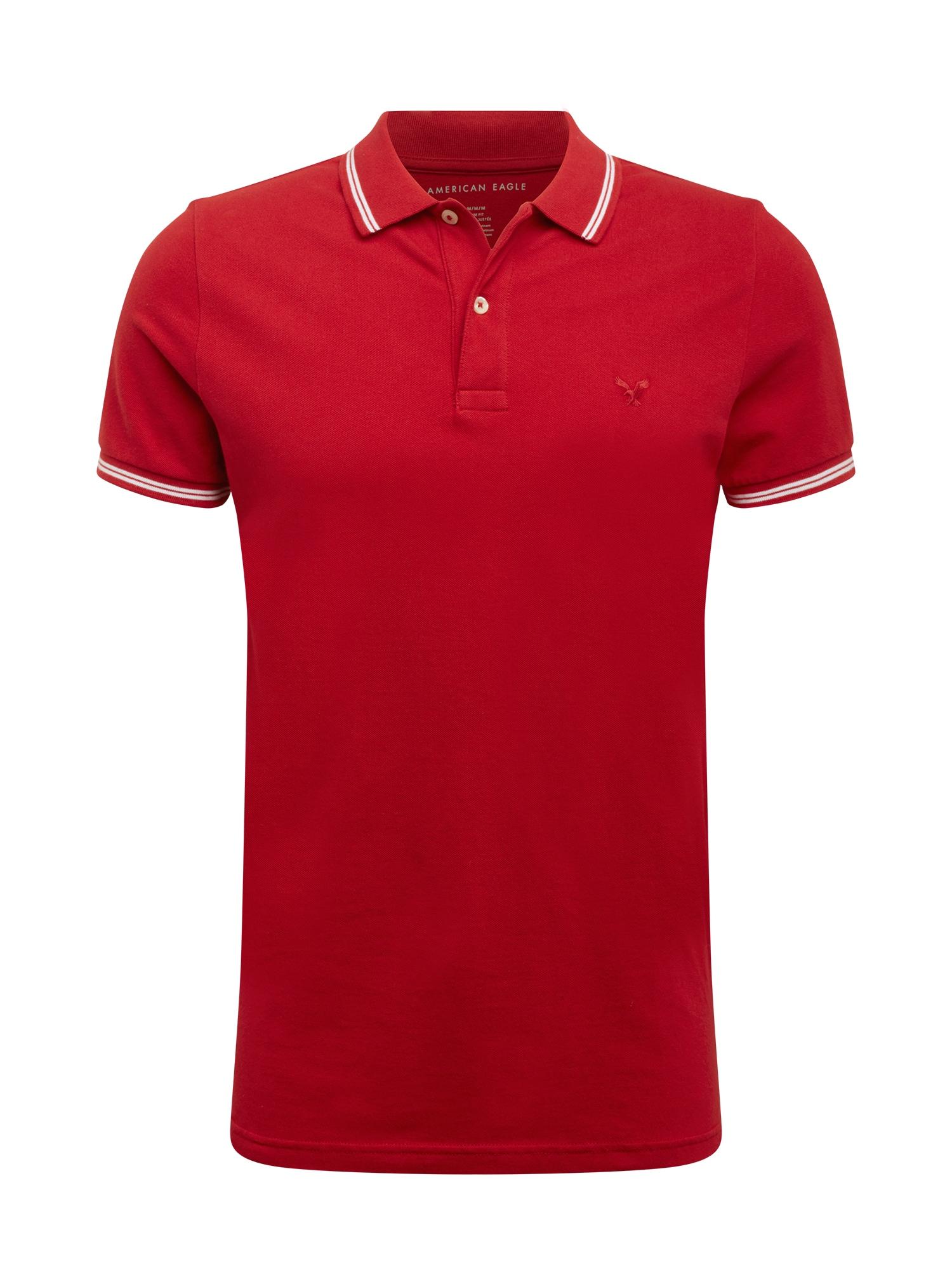 American Eagle Marškinėliai raudona / balta