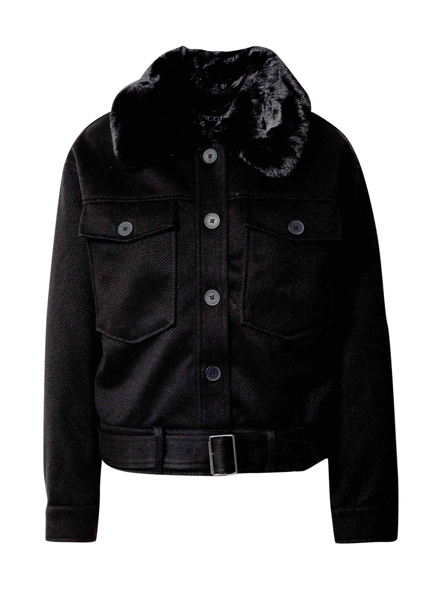 PIECES Přechodná bunda  černá