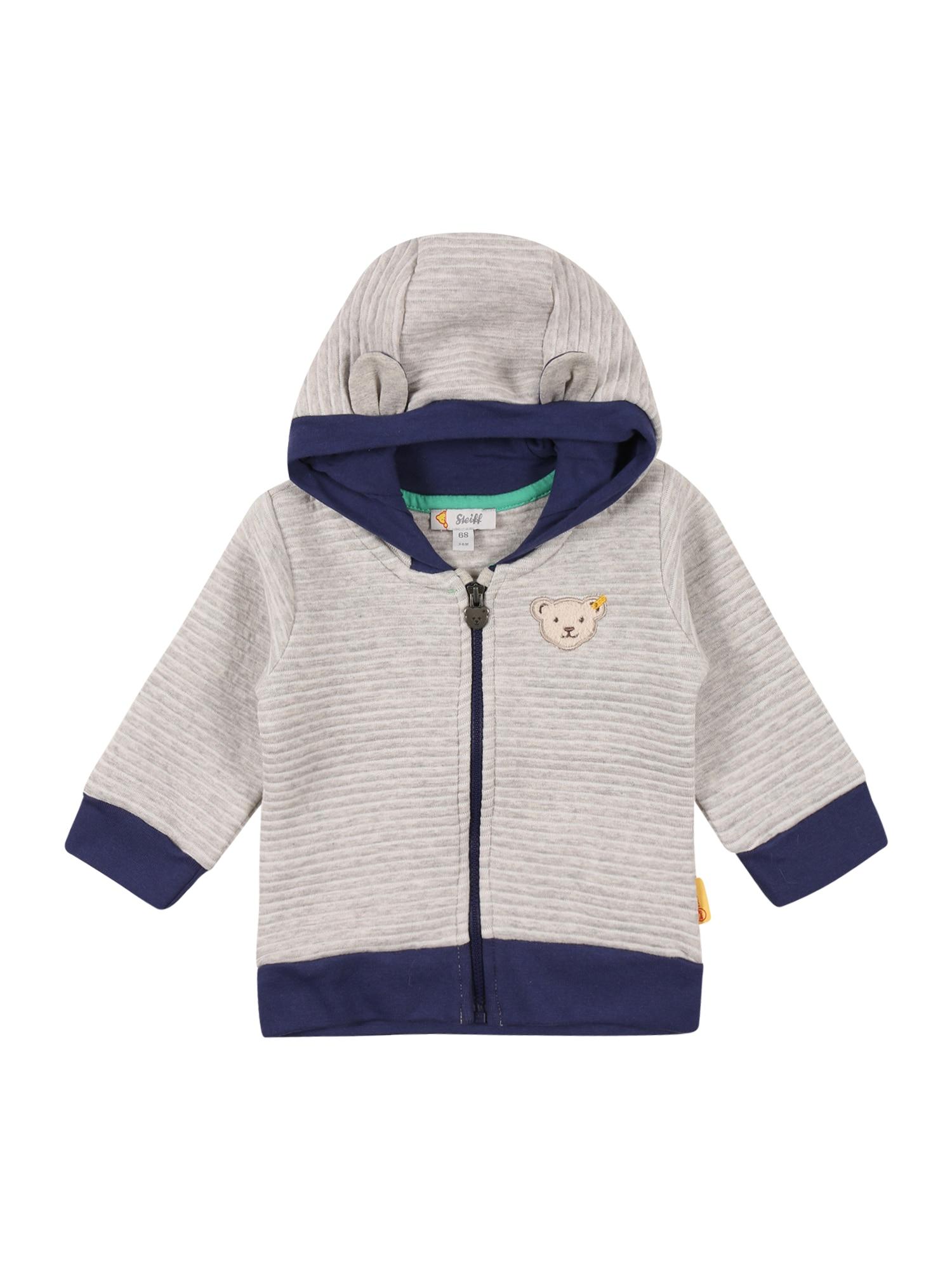 Steiff Collection Džemperis margai pilka / šviesiai pilka / tamsiai mėlyna jūros spalva