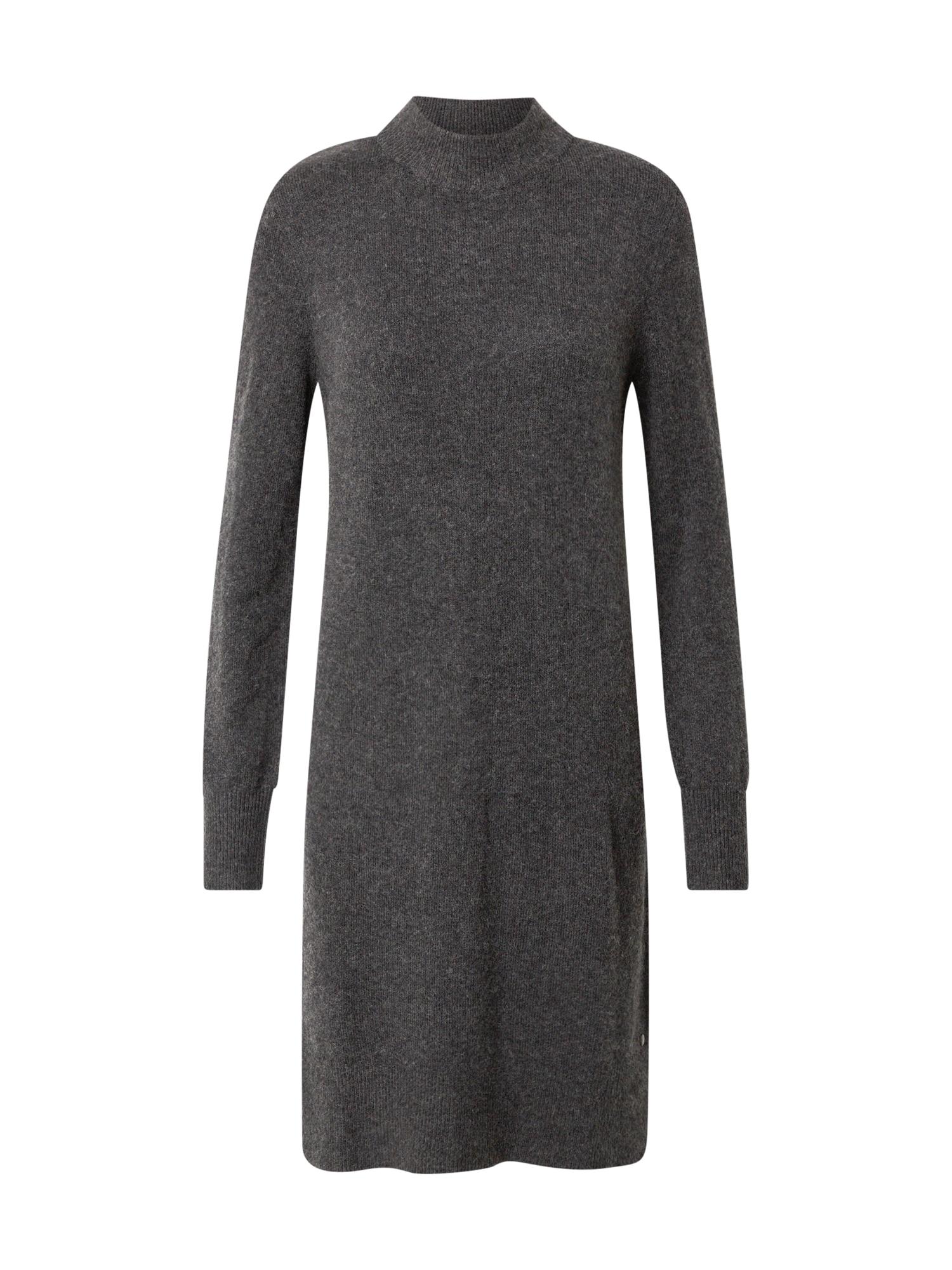 TOM TAILOR Úpletové šaty  tmavě šedá