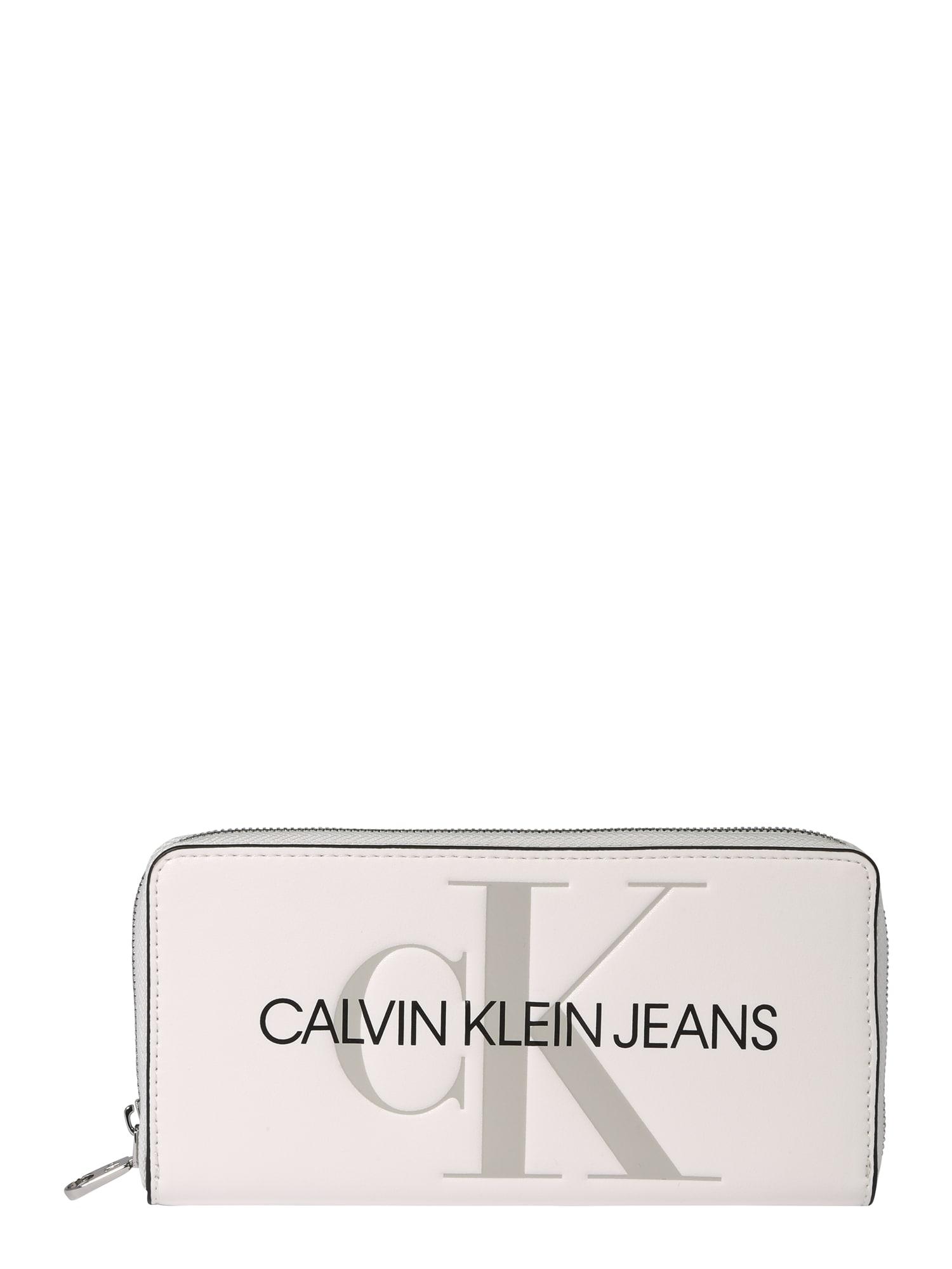 Calvin Klein Jeans Peněženka  béžová / černá
