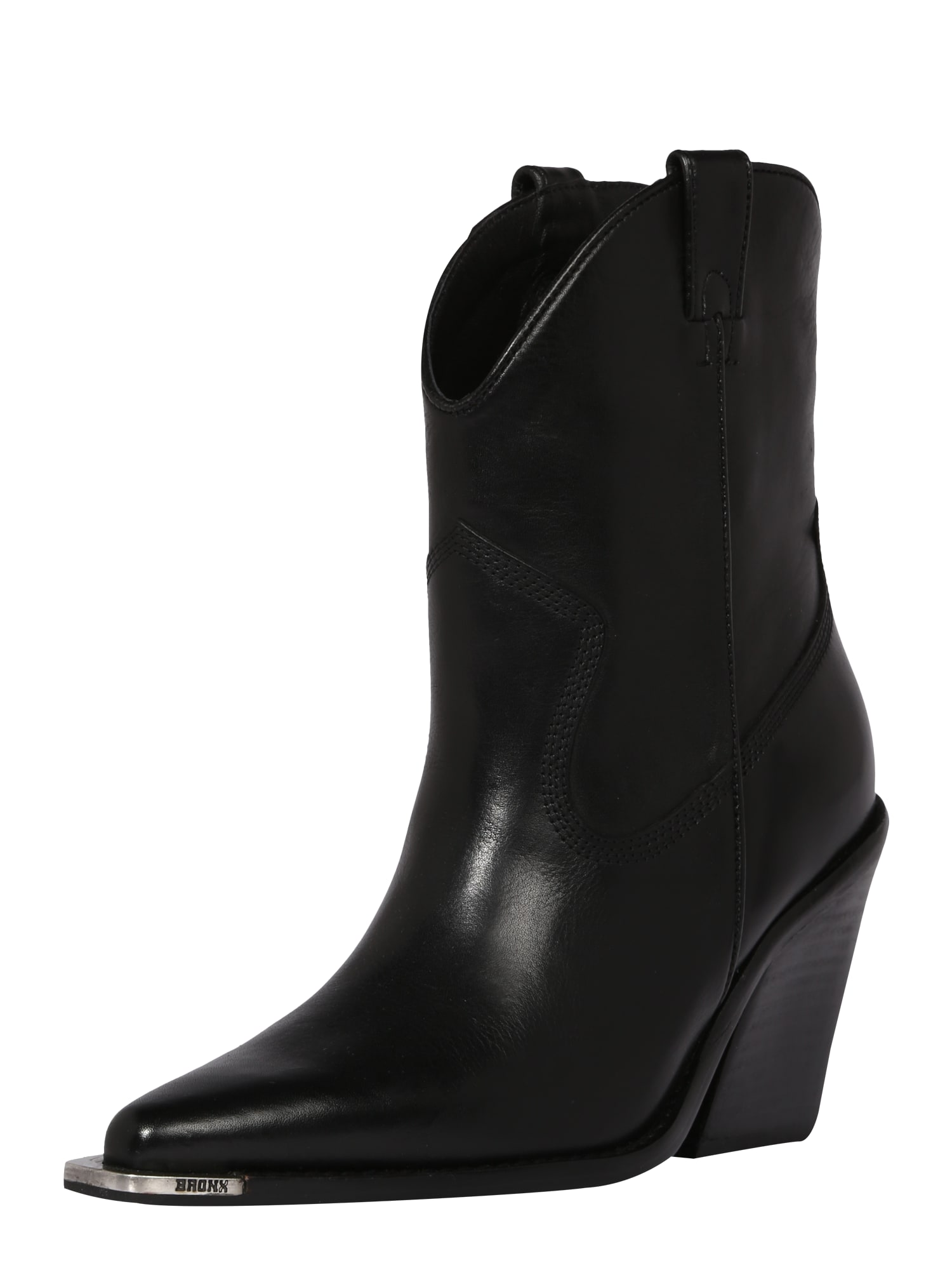 BRONX Kaubojiški batai juoda