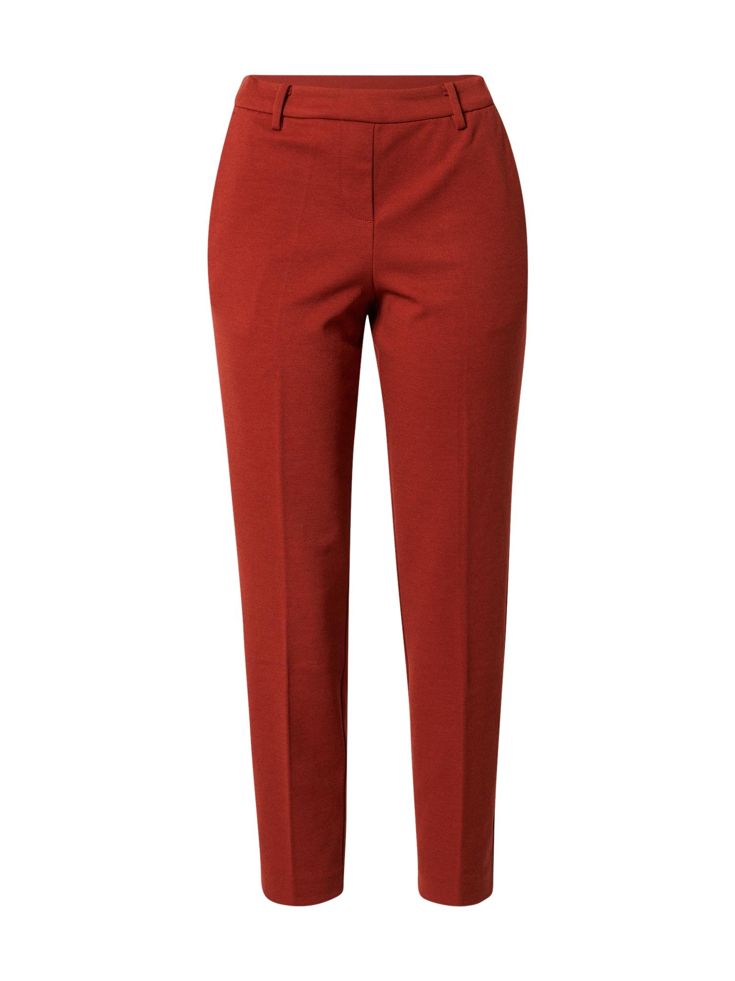 TOM TAILOR Kalhoty se sklady v pase 'Mia'  červená / rezavě červená