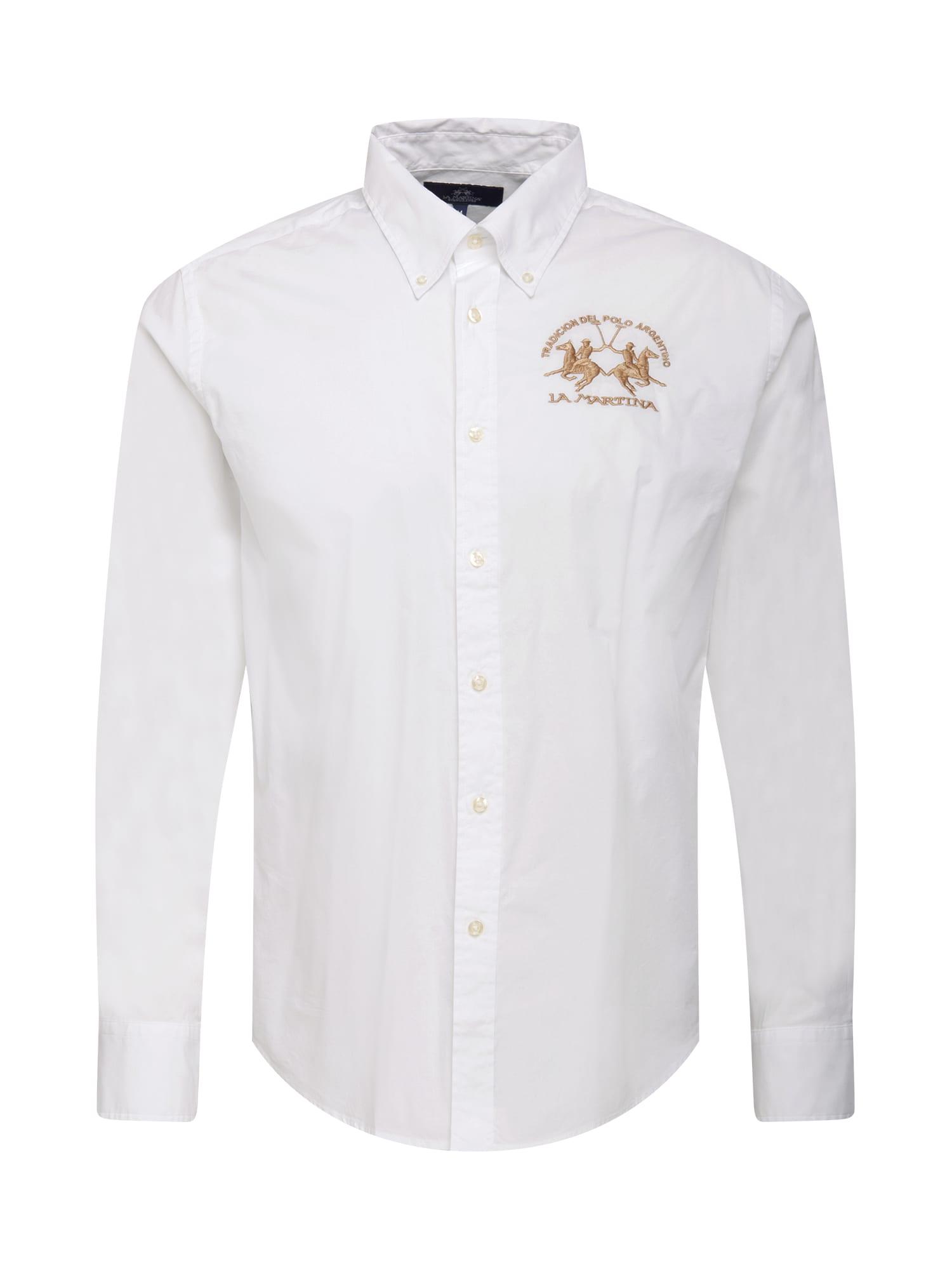 La Martina Marškiniai balta / auksas