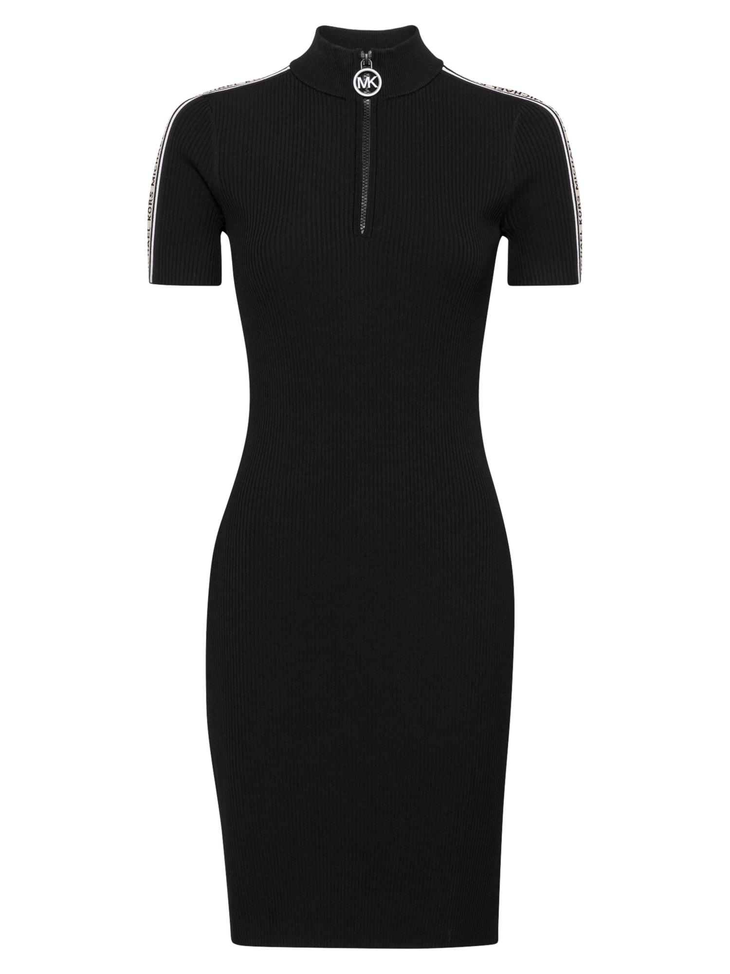 MICHAEL Michael Kors Megzta suknelė juoda / kūno spalva / balta