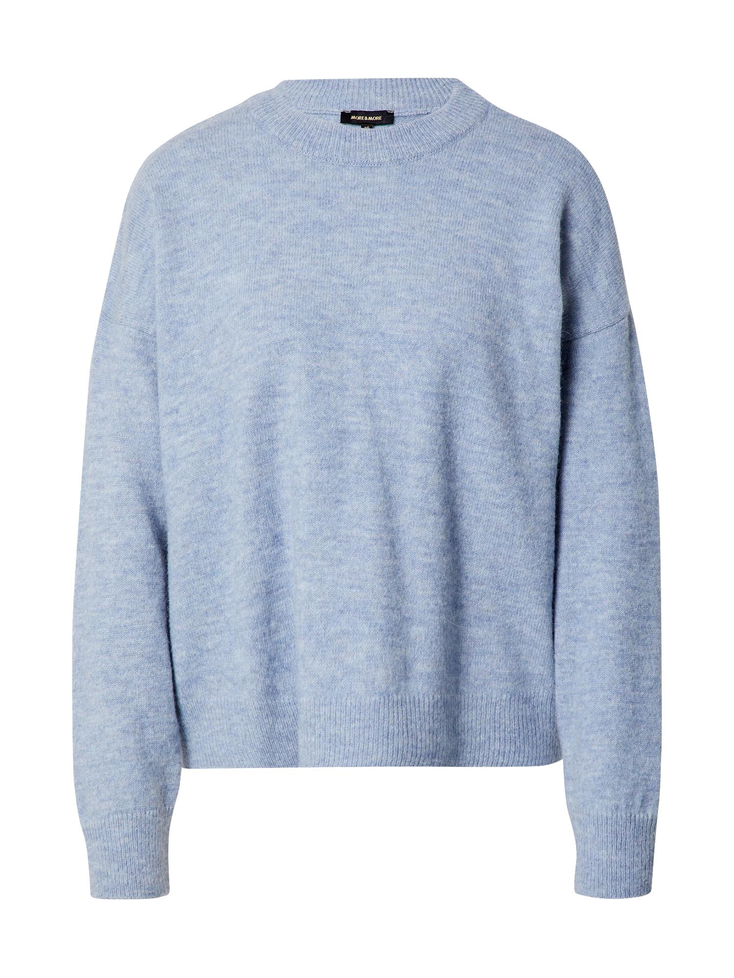 MORE & MORE Megztinis mėlyna dūmų spalva / marga smėlio spalva