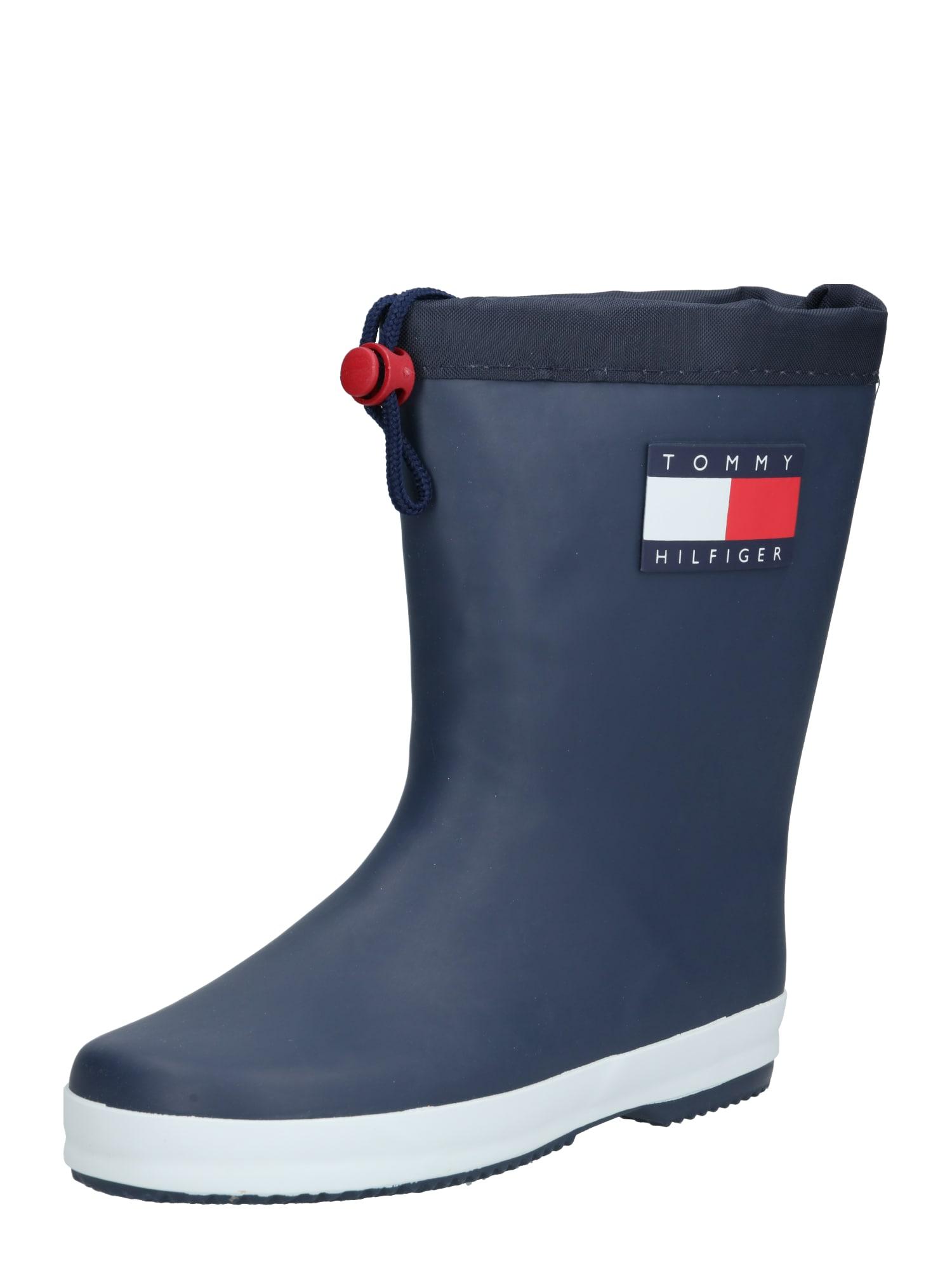 TOMMY HILFIGER Gumáky  námornícka modrá / biela / červená
