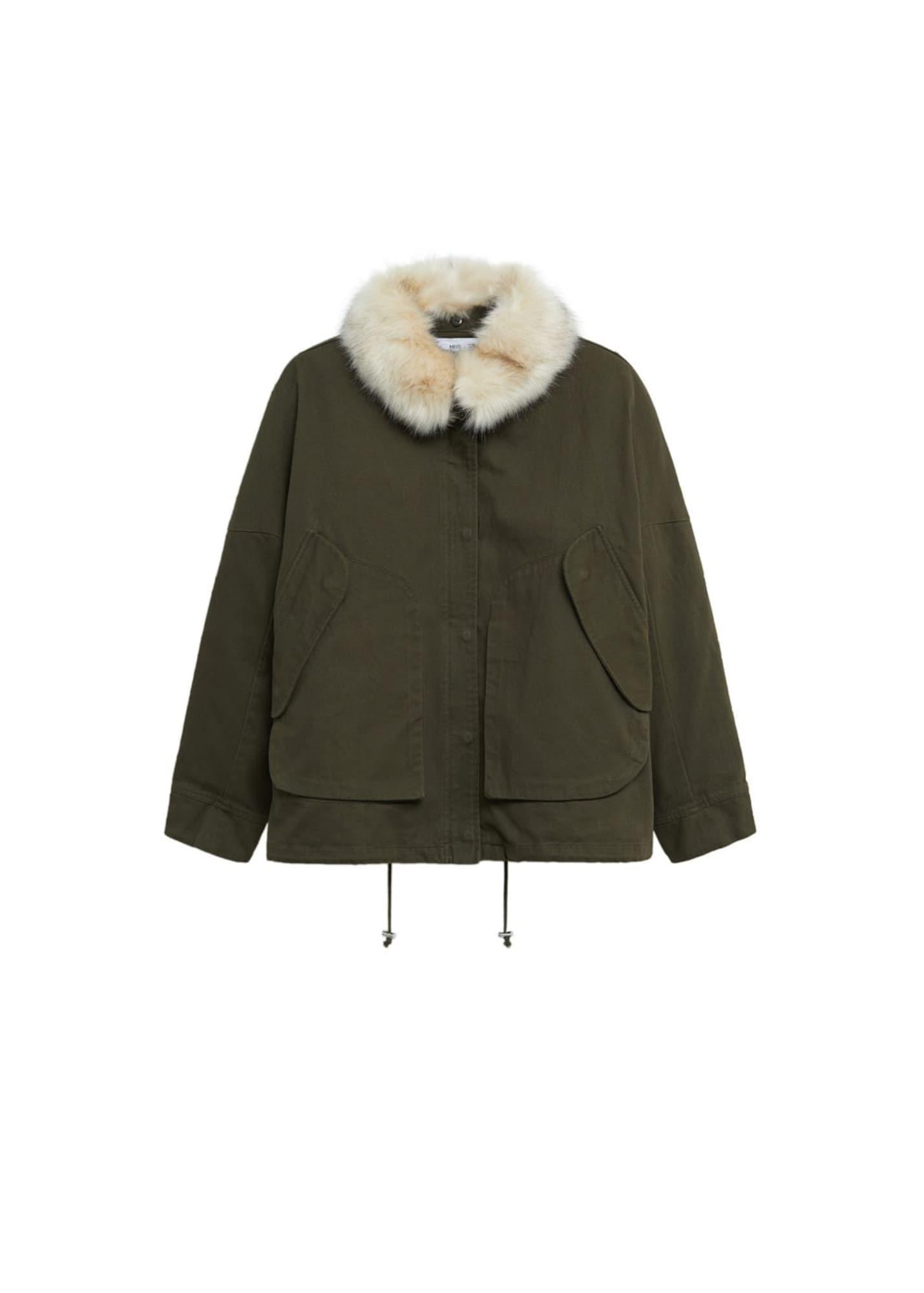 MANGO Přechodná bunda 'Mary'  khaki