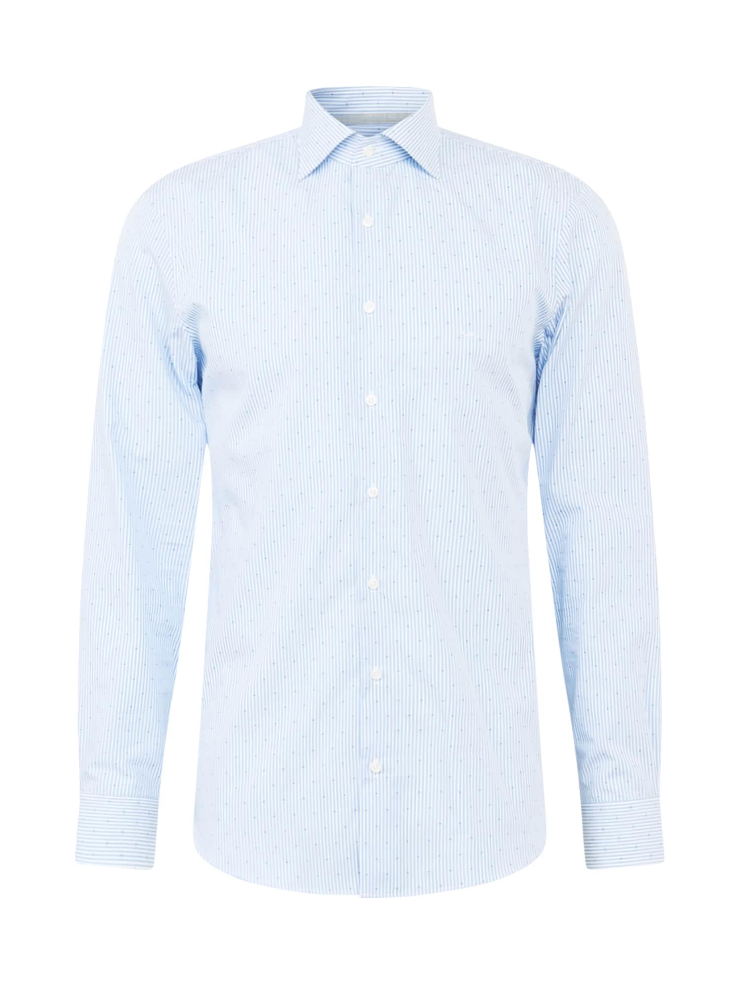 Michael Kors Košile 'SUTTON'  kouřově modrá / marine modrá / bílá