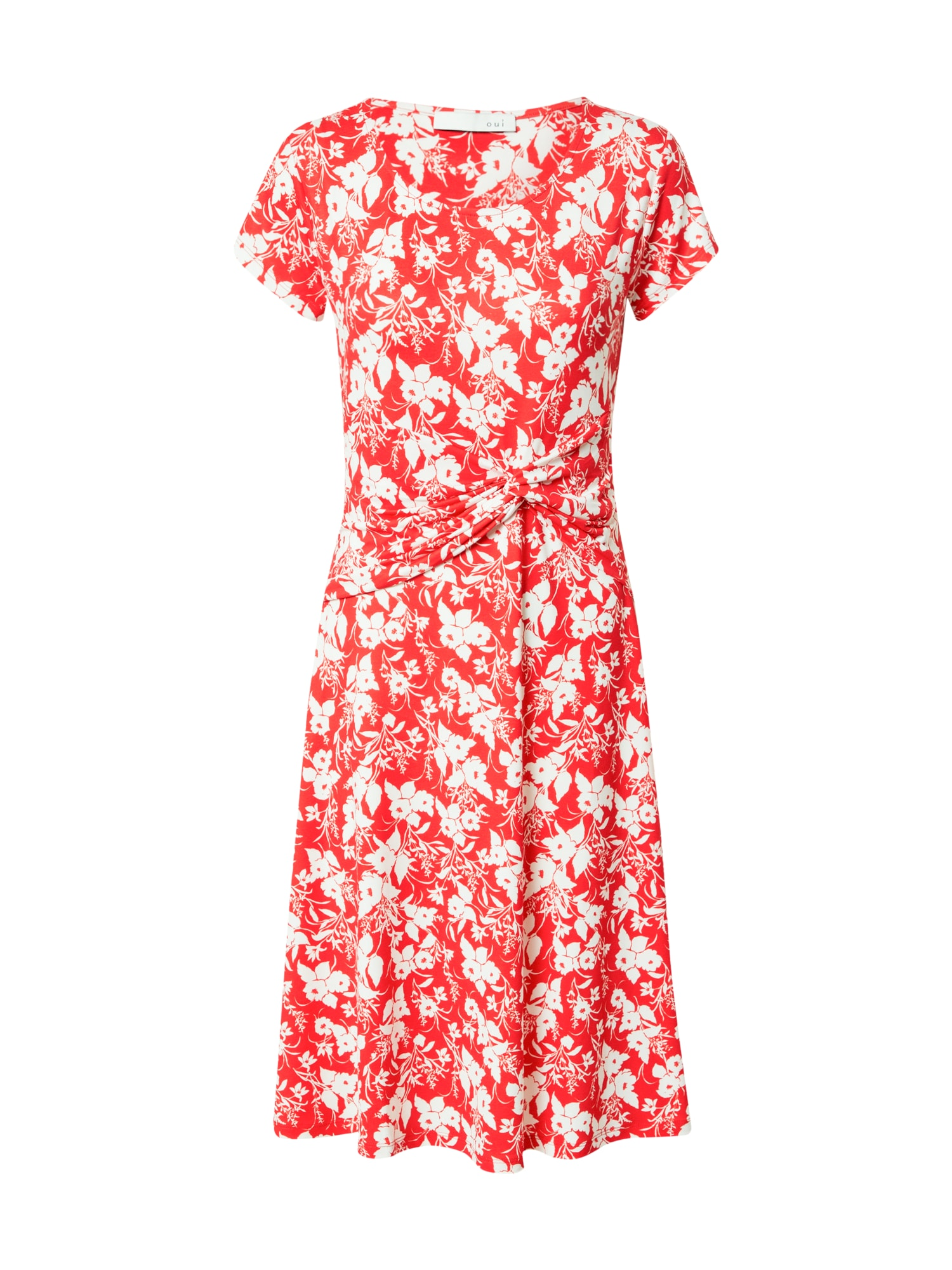 OUI Suknelė balta / ugnies raudona