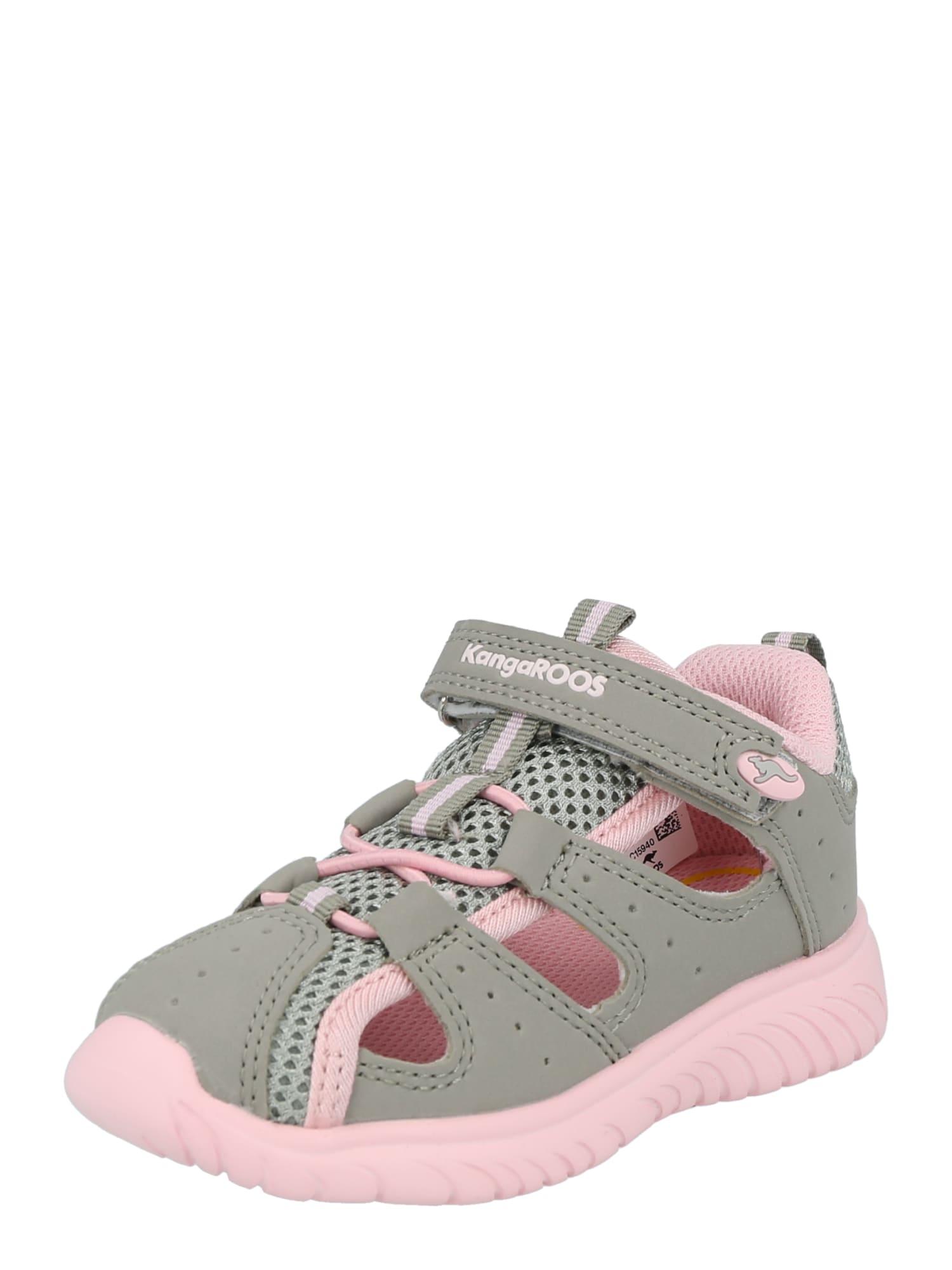 KangaROOS Sandalai bazalto pilka / šviesiai rožinė